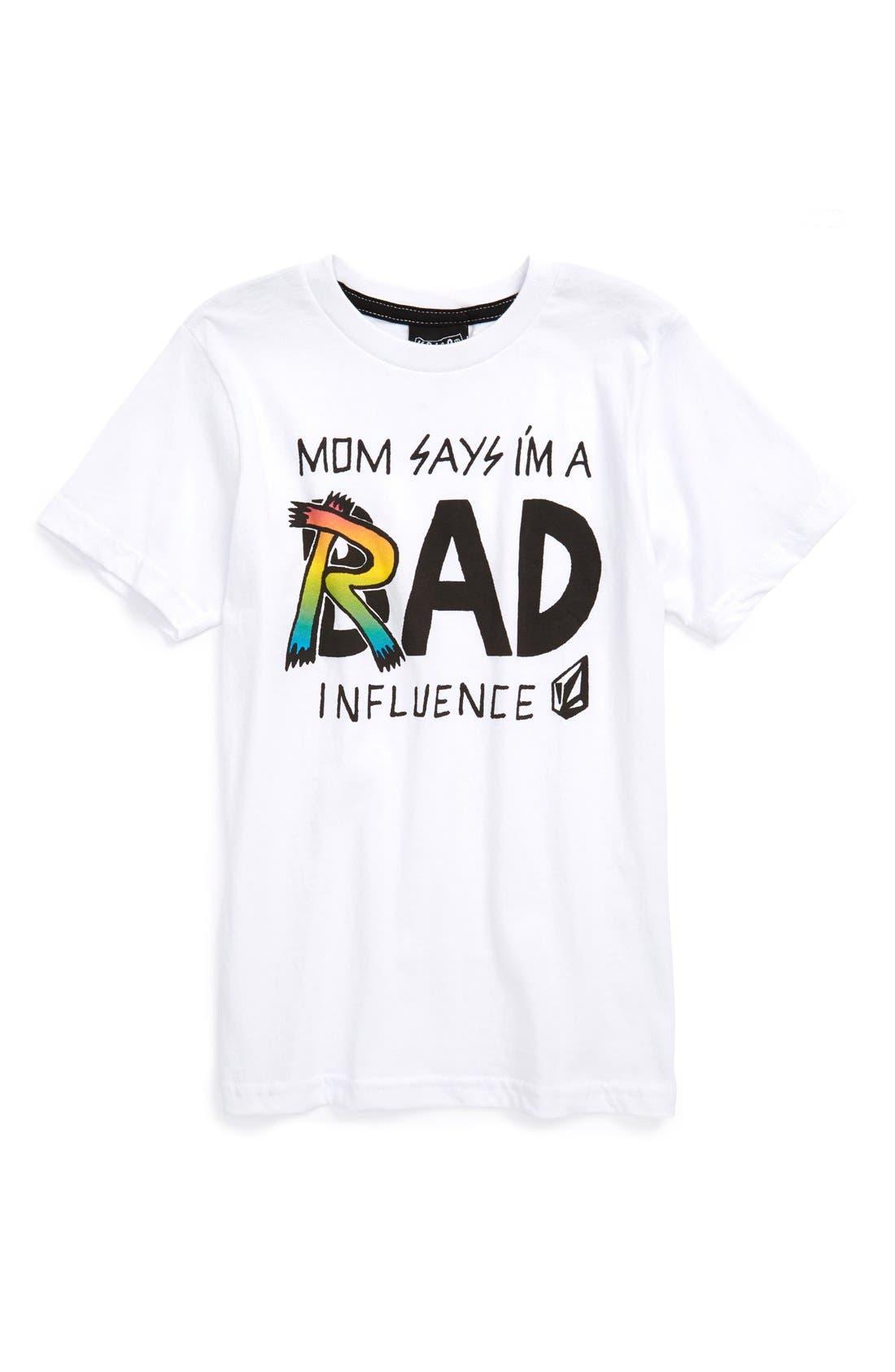 'Rad Influence' T-Shirt,                             Main thumbnail 1, color,                             100