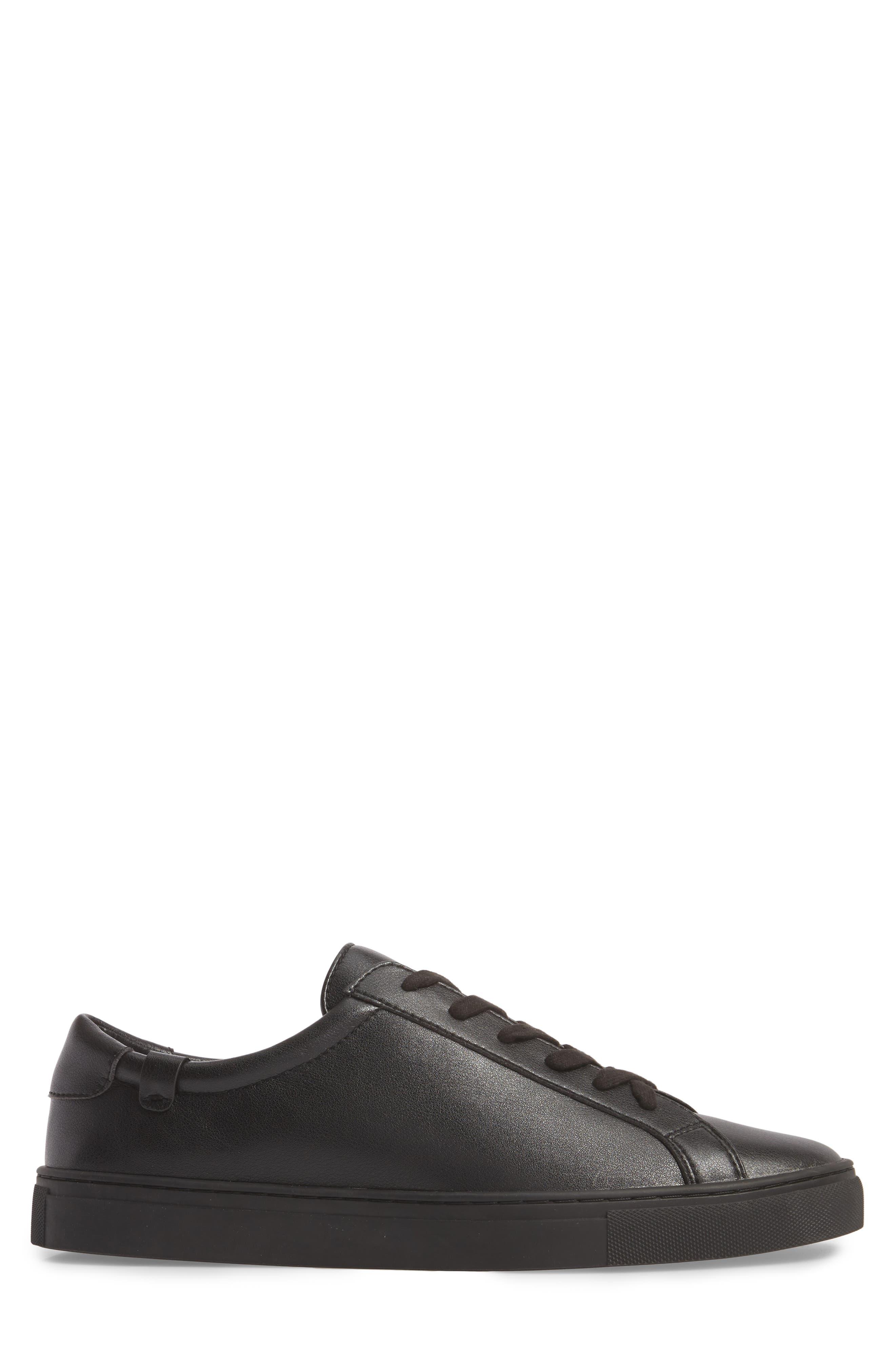 Original Low Top Sneaker,                             Alternate thumbnail 3, color,                             BLACK / BLACK