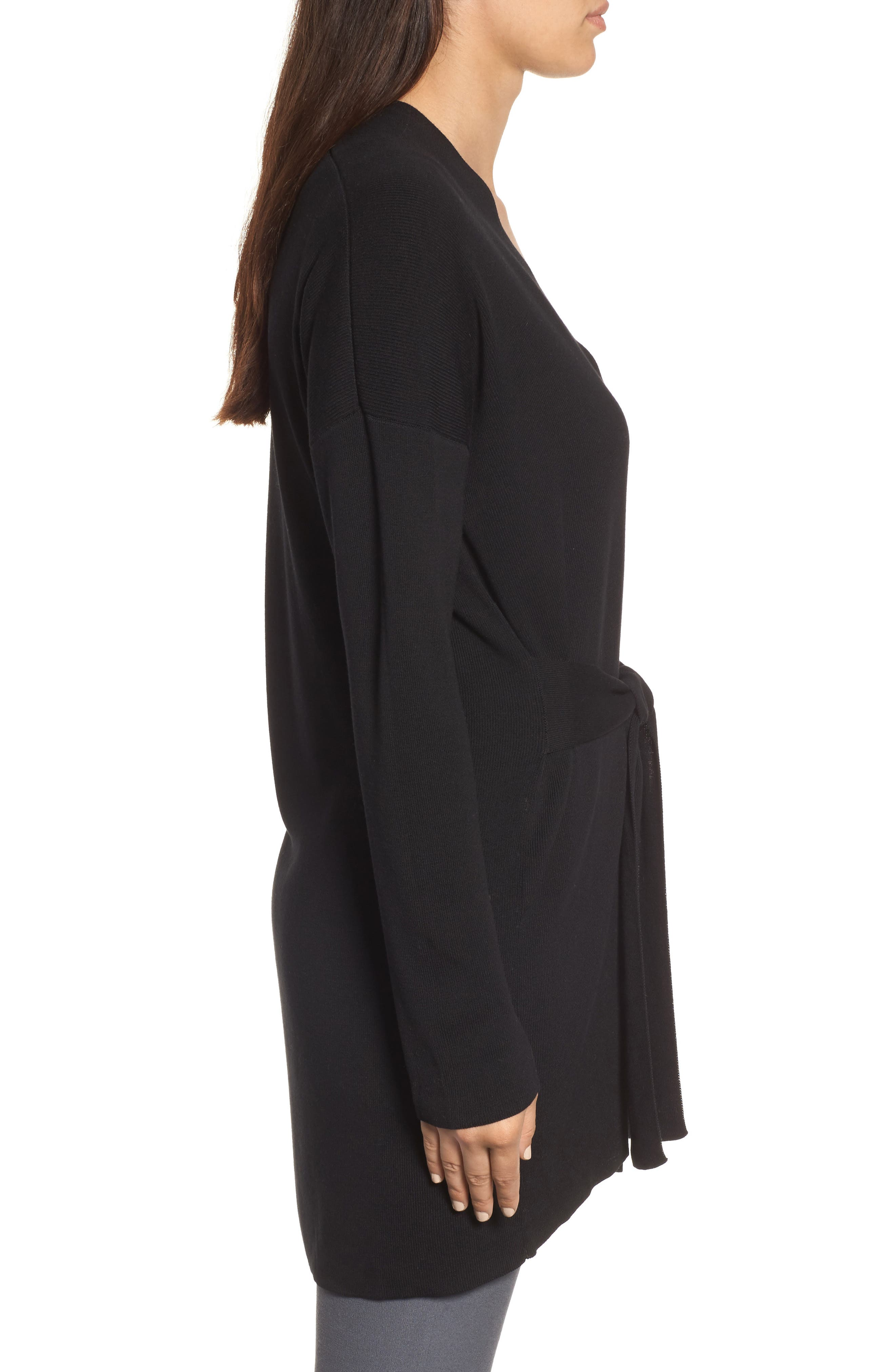 Long Belted Cardigan,                             Alternate thumbnail 9, color,