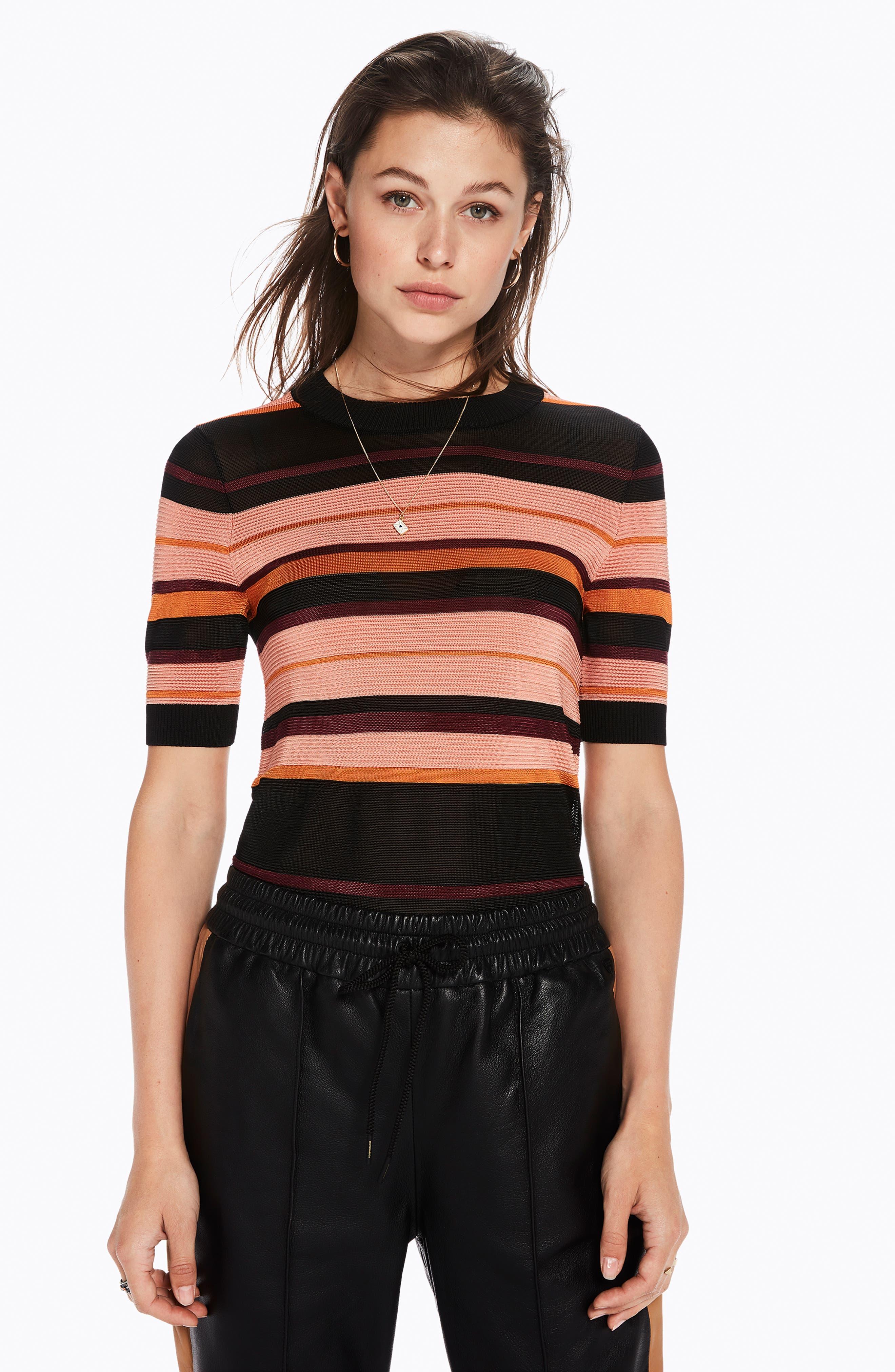 Stripe Knit Top,                             Alternate thumbnail 7, color,                             931