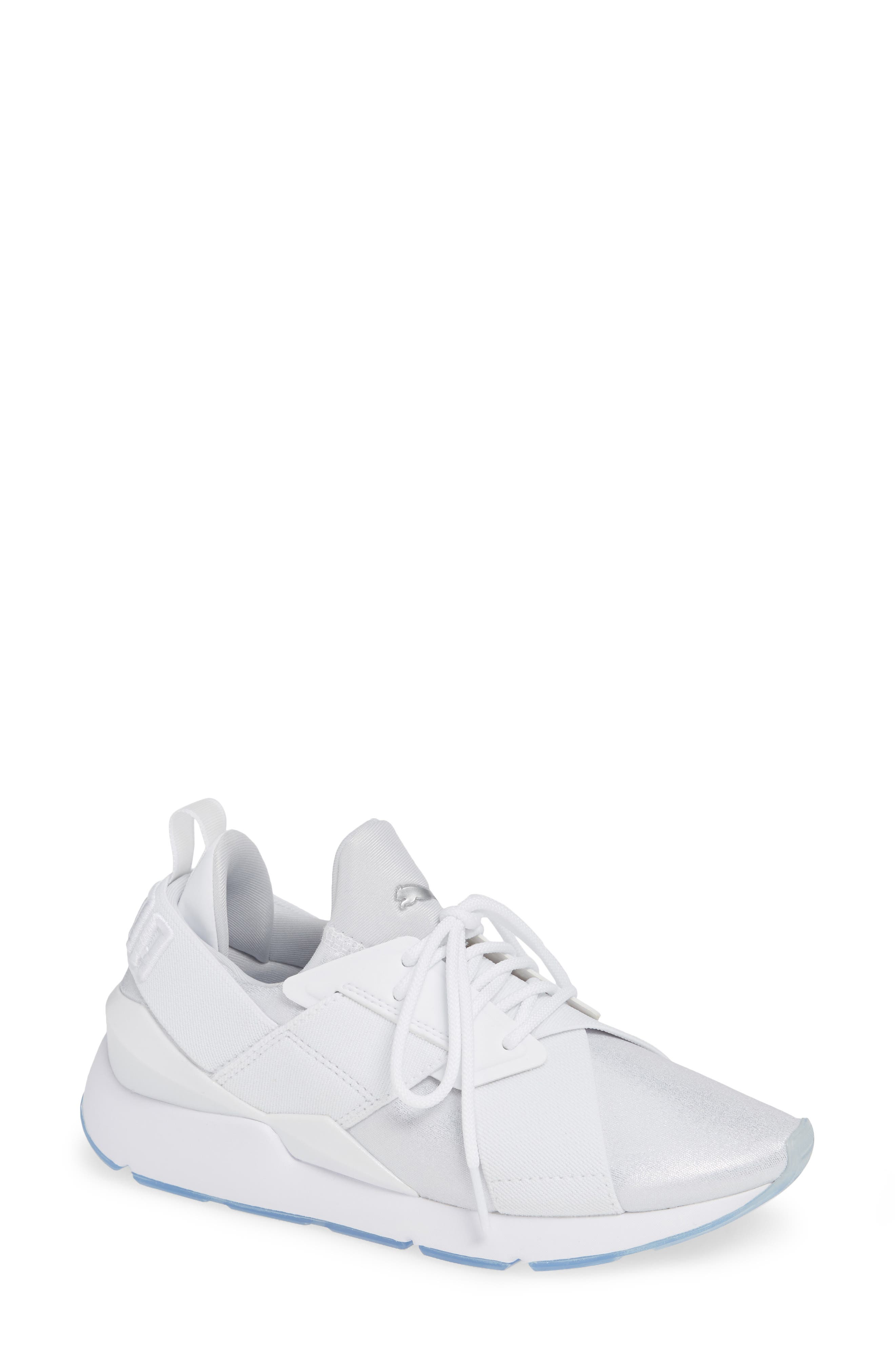 Women'S Muse Ice Low-Top Sneakers in Puma White/ Puma White