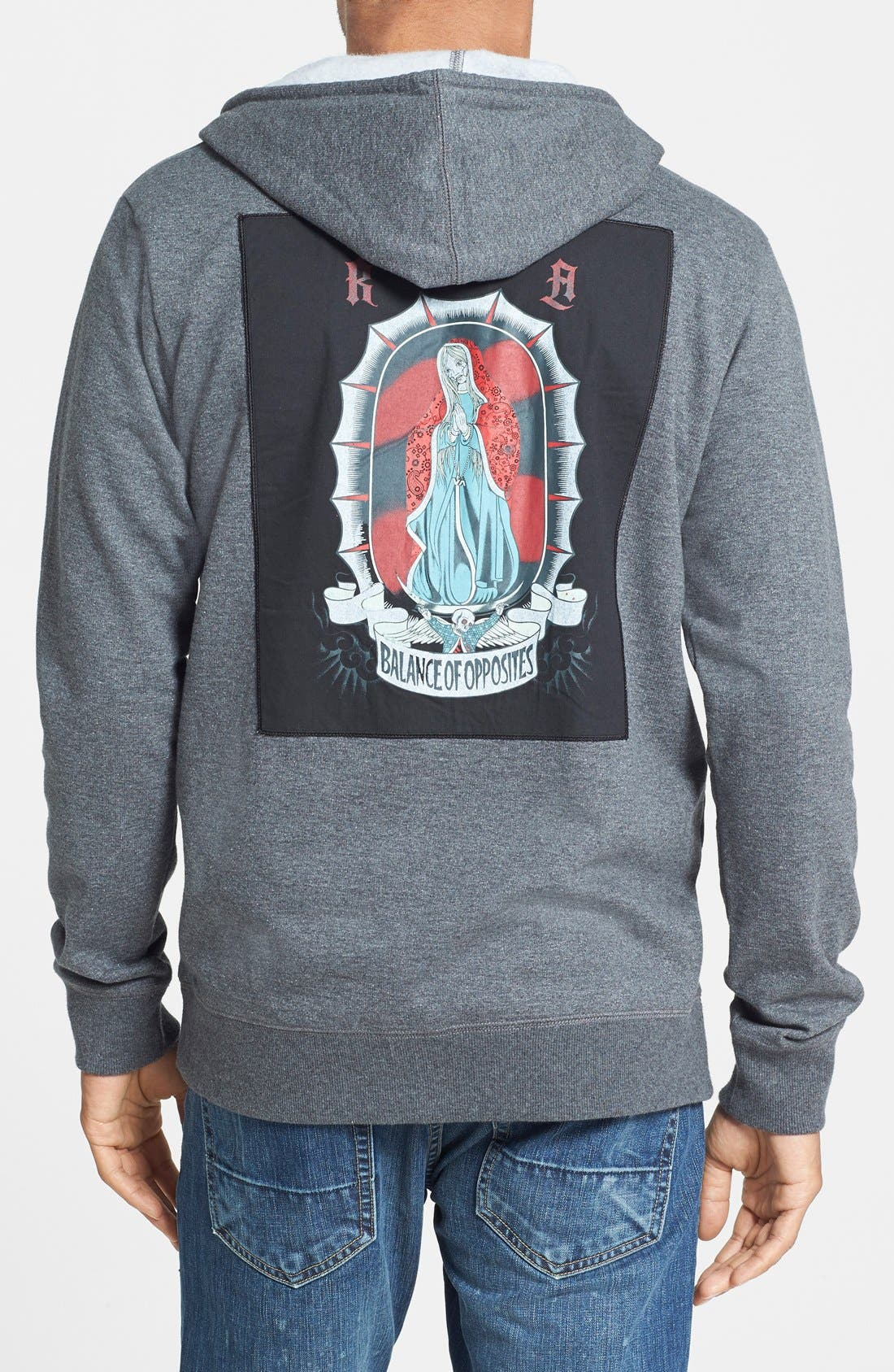 'Trust' Hoodie with Punk Rock Back Patch,                             Main thumbnail 1, color,                             051