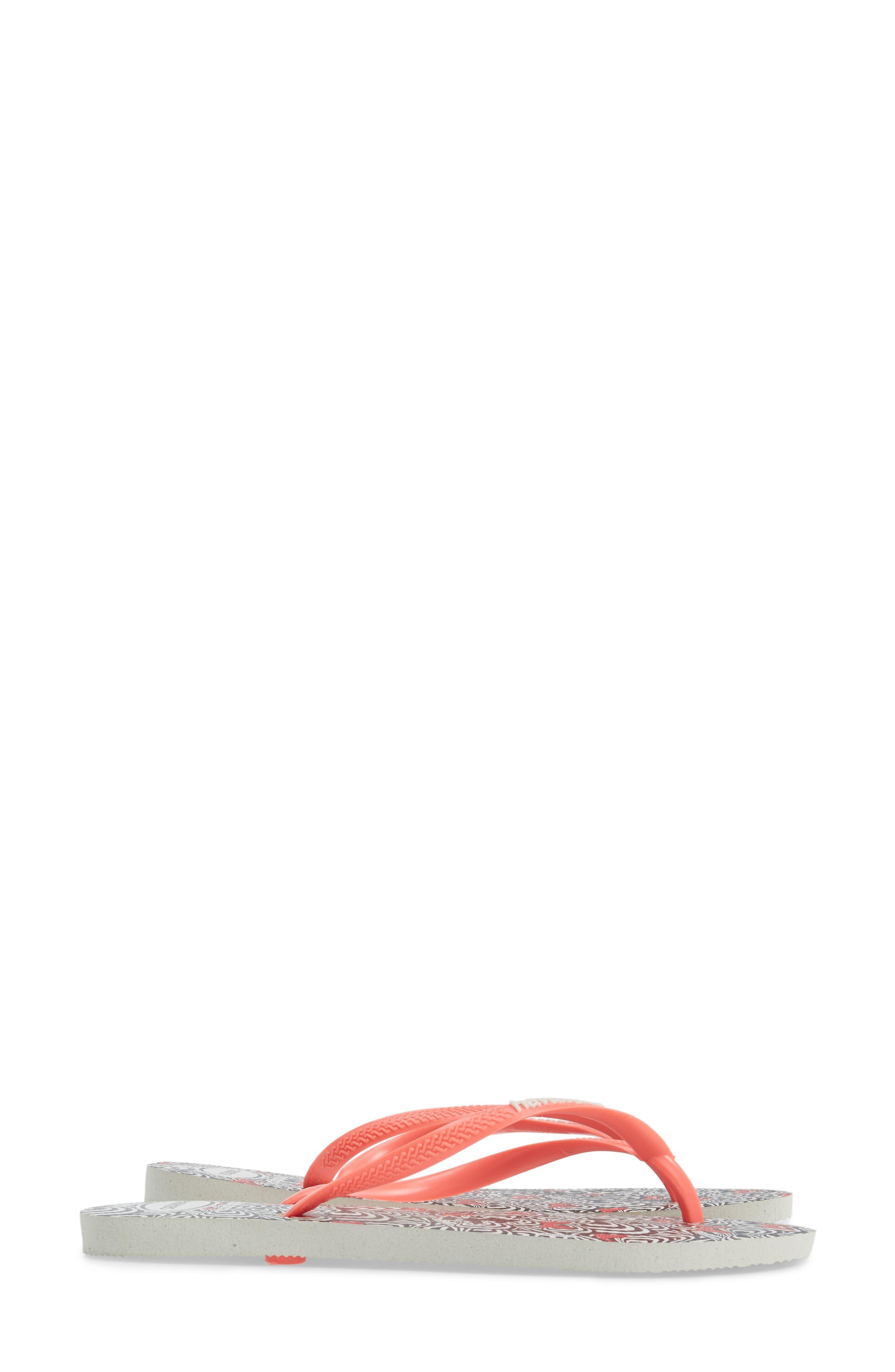 Slim Millennial Disney Thematic Flip Flop,                             Alternate thumbnail 11, color,