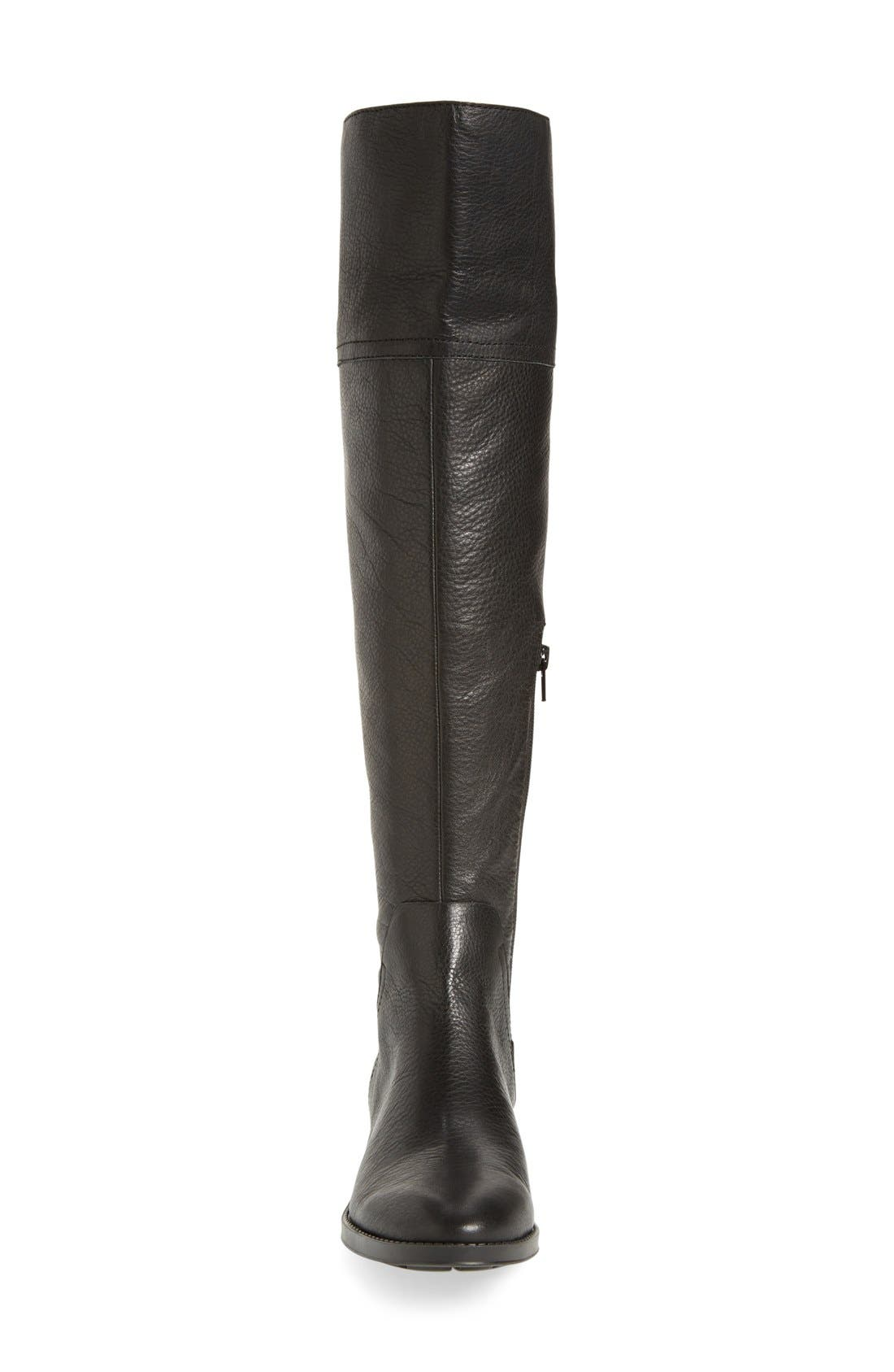 'Pedra' Over the Knee Boot,                             Alternate thumbnail 3, color,                             001