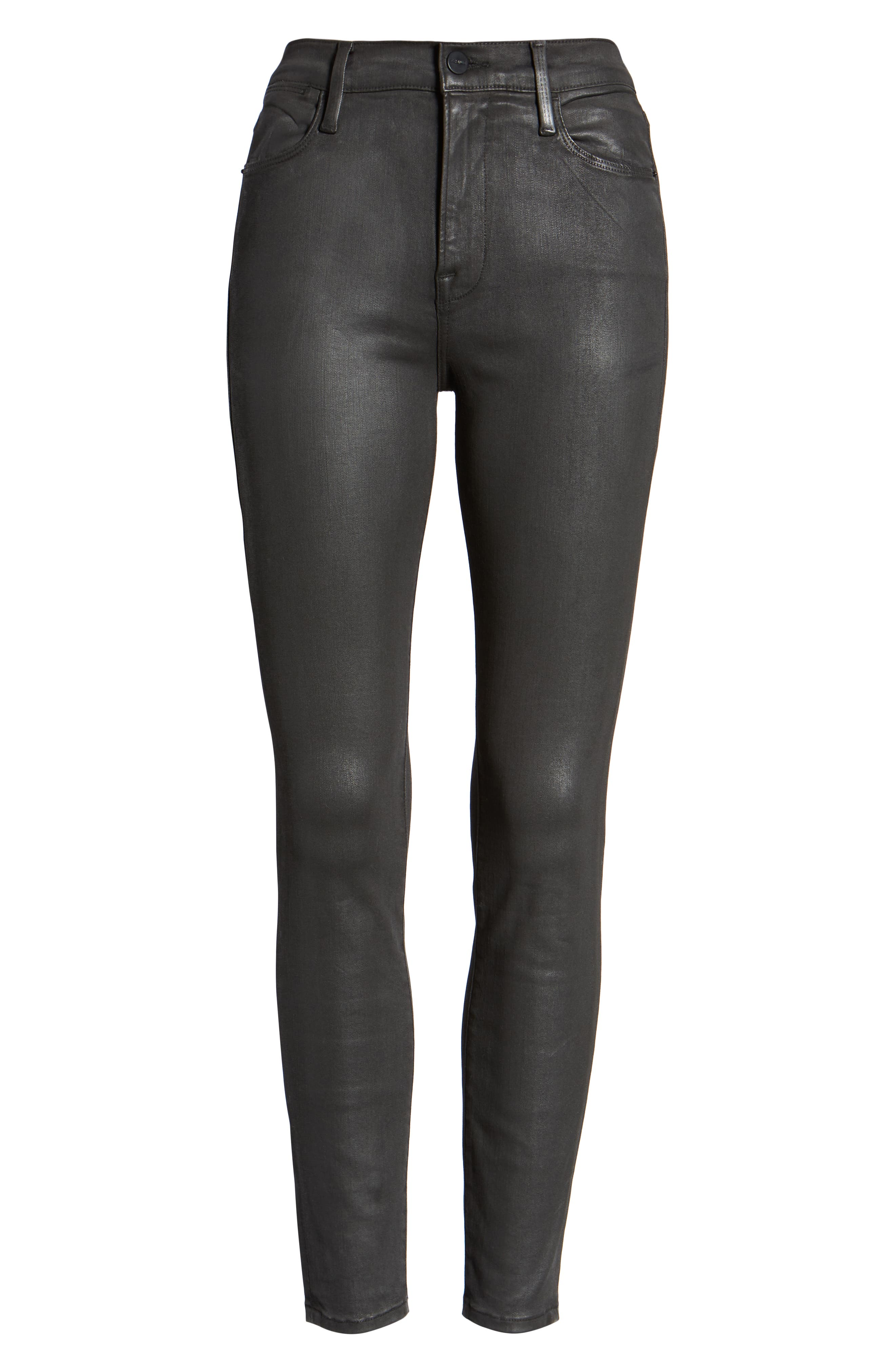 Le High Ankle Skinny Jeans,                             Alternate thumbnail 7, color,                             STONE COATED