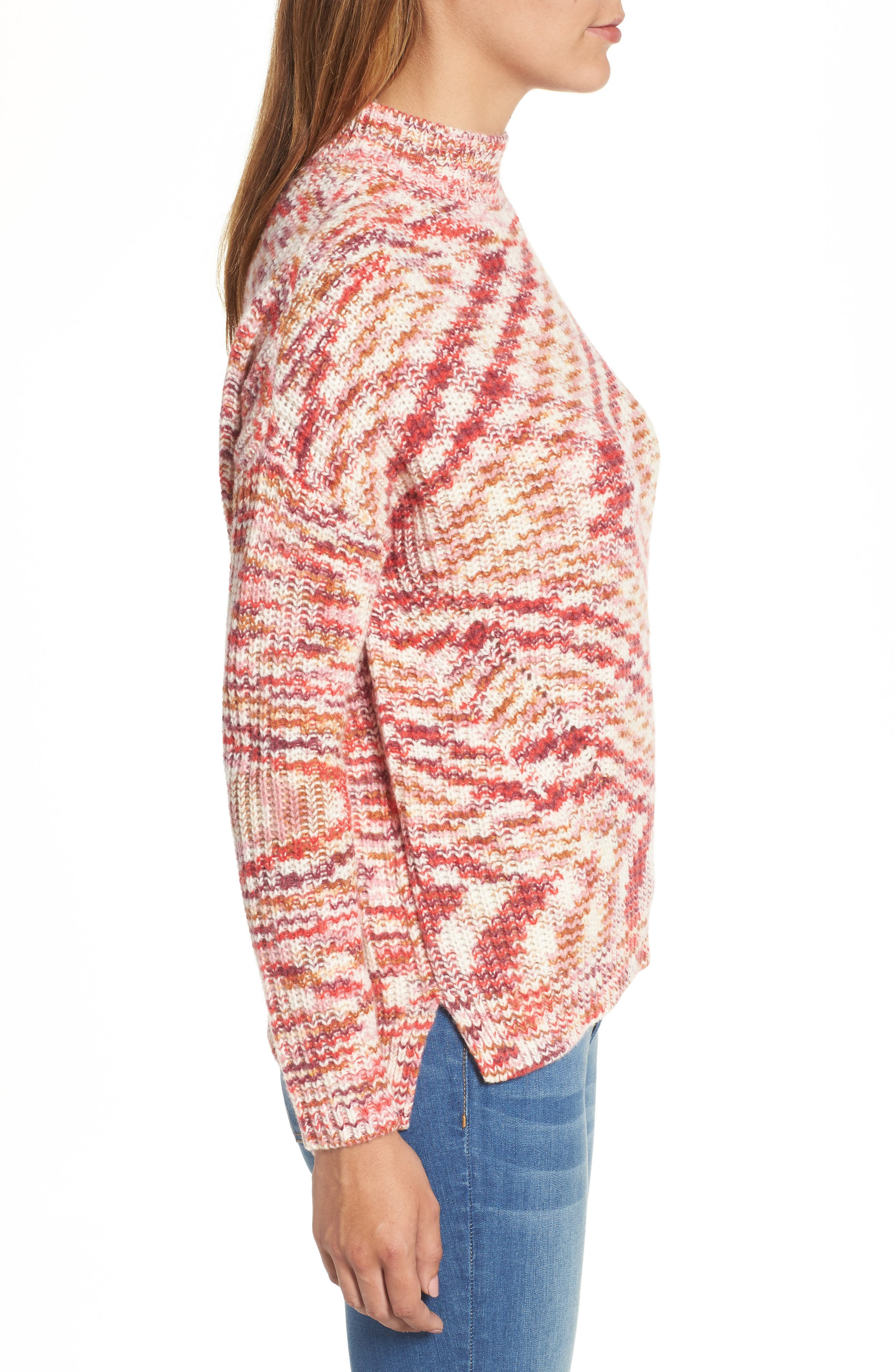 Mock Neck Sweater,                             Alternate thumbnail 3, color,                             651