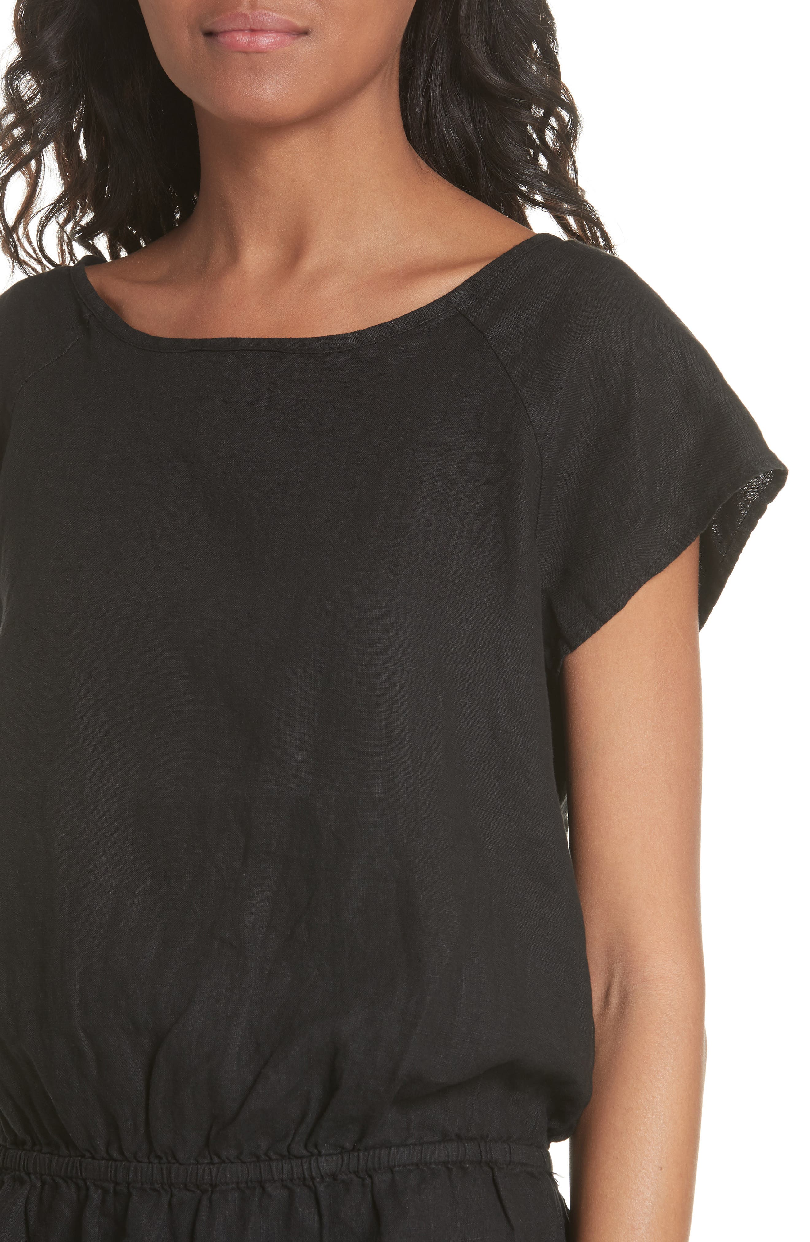 Quora Ruffle Linen Dress,                             Alternate thumbnail 7, color,