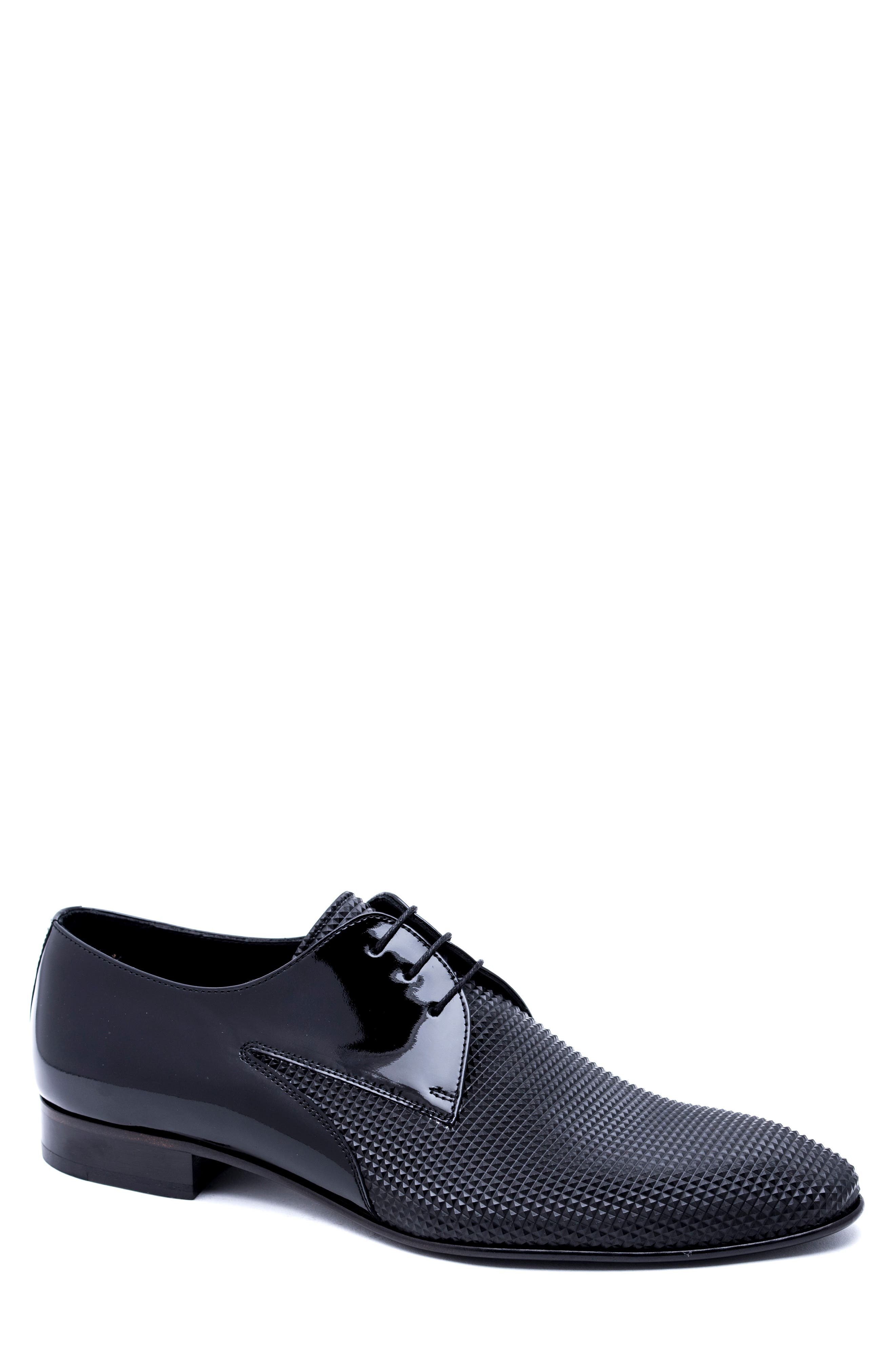 Embossed Derby,                             Main thumbnail 1, color,                             BLACK