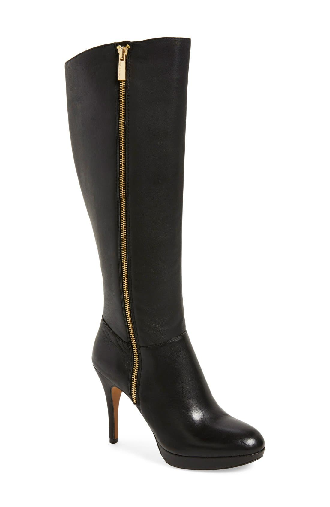 VINCE CAMUTO,                             'Emilian' Tall Boot,                             Main thumbnail 1, color,                             001