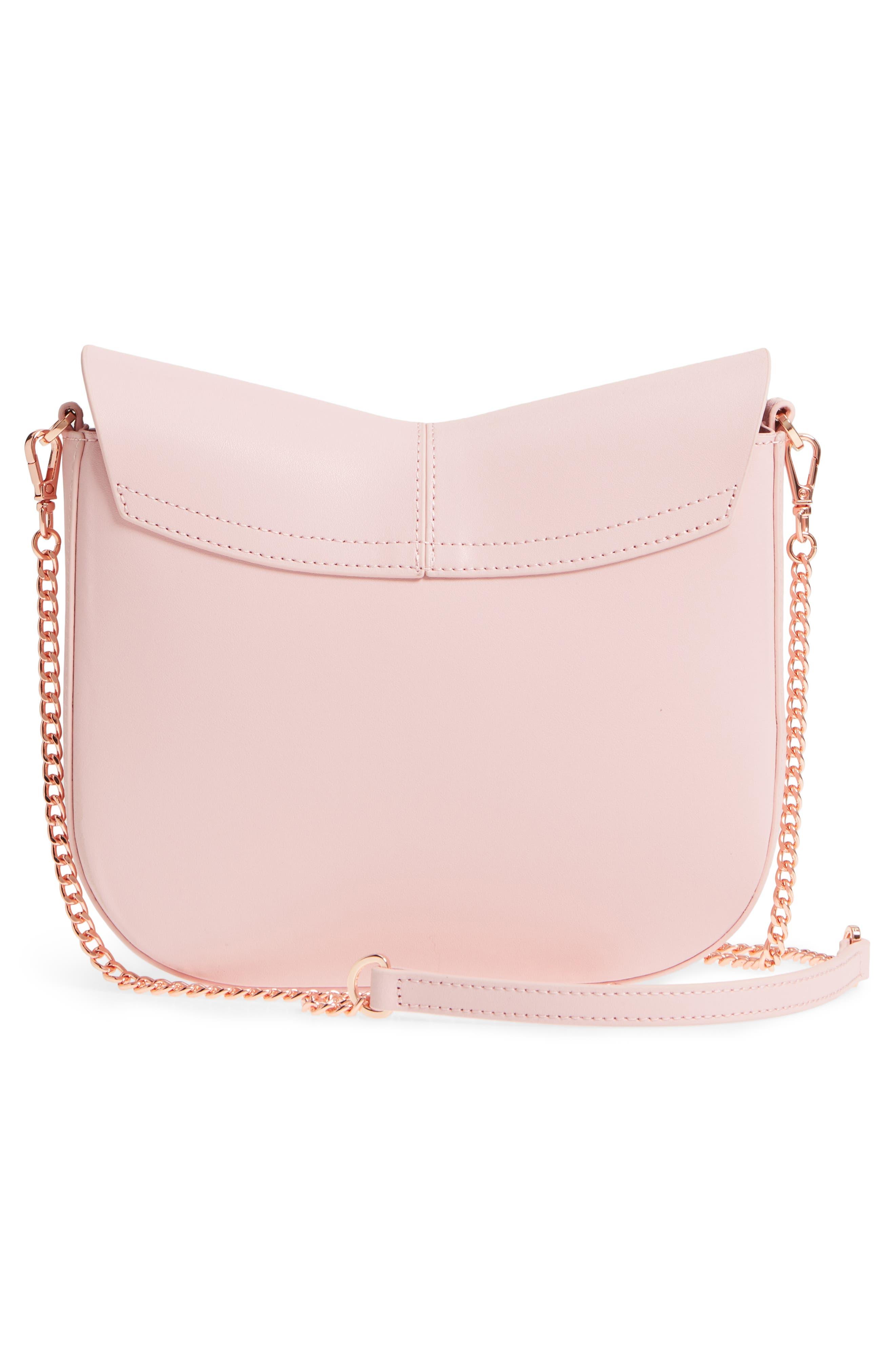 Chriiss Cat Stud Leather Crossbody Bag,                             Alternate thumbnail 8, color,