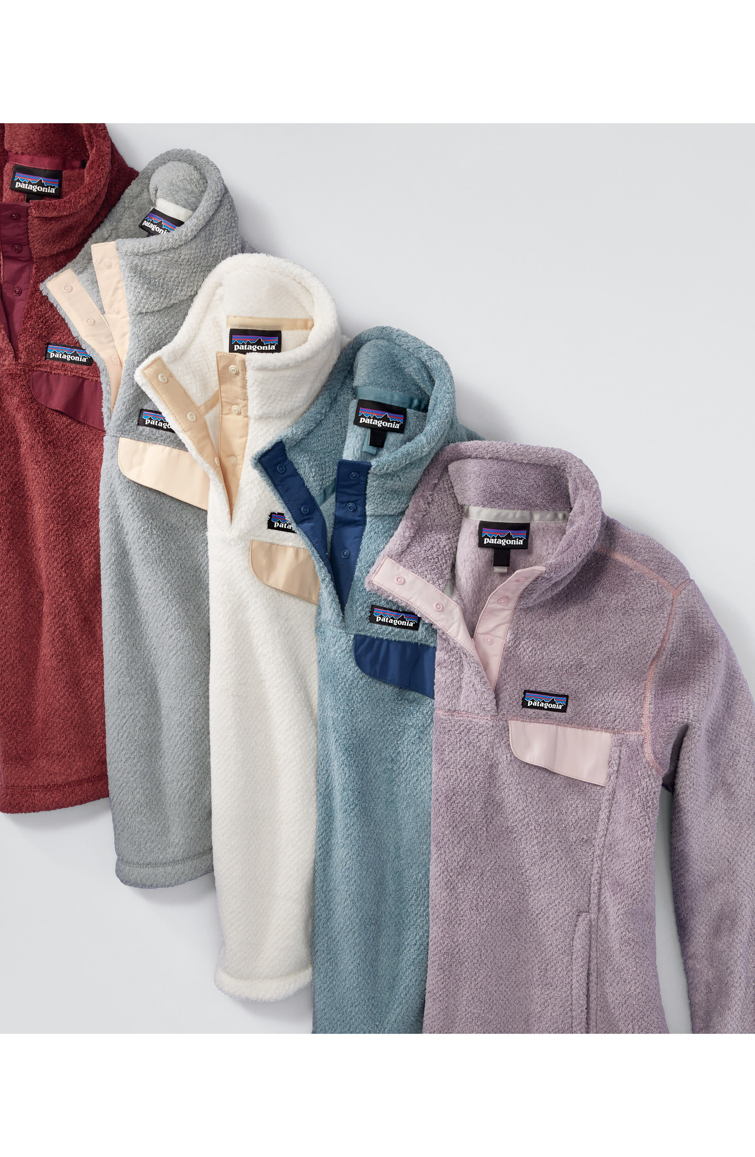 Re-Tool Snap-T<sup>®</sup> Fleece Pullover,                             Alternate thumbnail 8, color,                             SMOKEY VIOLET PURPLE X-DYE