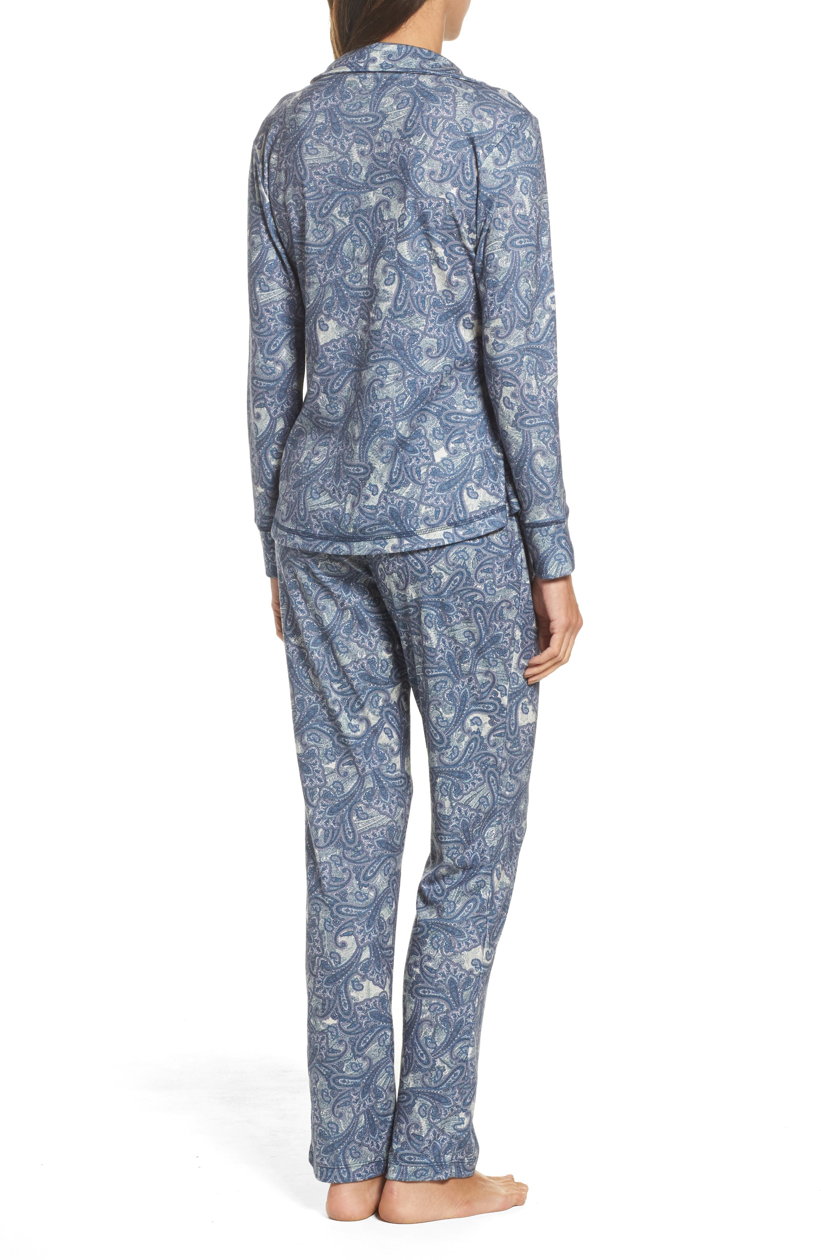 Clara Flannel Pajamas,                             Alternate thumbnail 2, color,                             400
