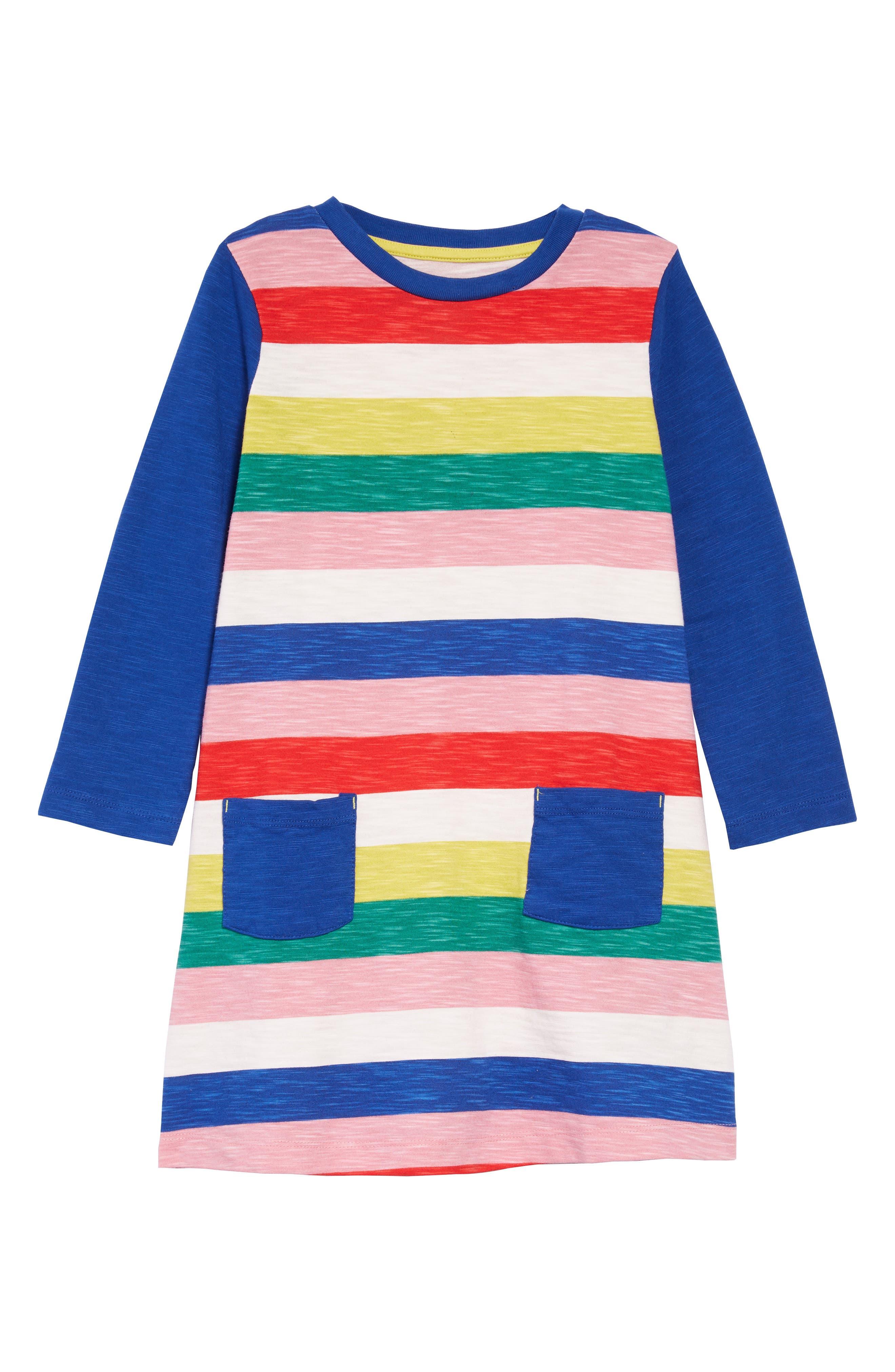 Stripy Jersey Dress,                             Main thumbnail 1, color,                             650