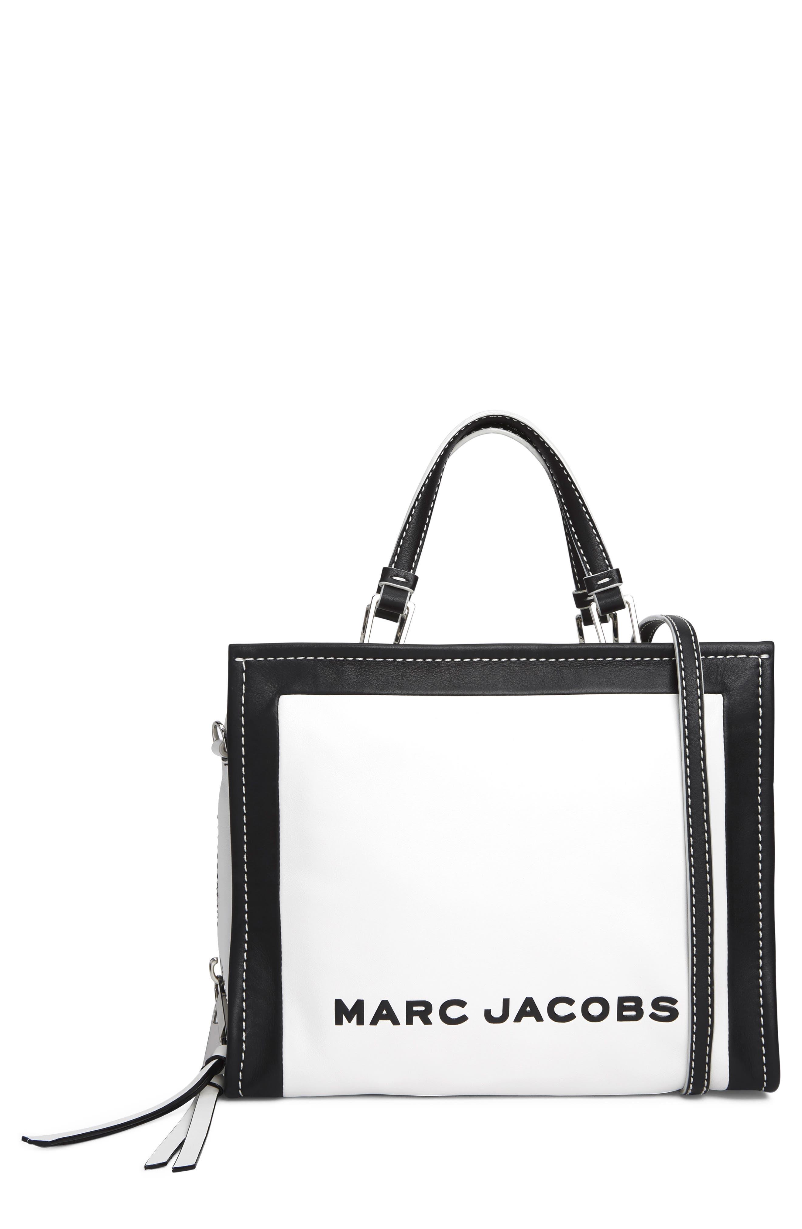 MARC JACOBS,                             The Box 29 Colorblock Leather Satchel,                             Main thumbnail 1, color,                             COTTON MULTI