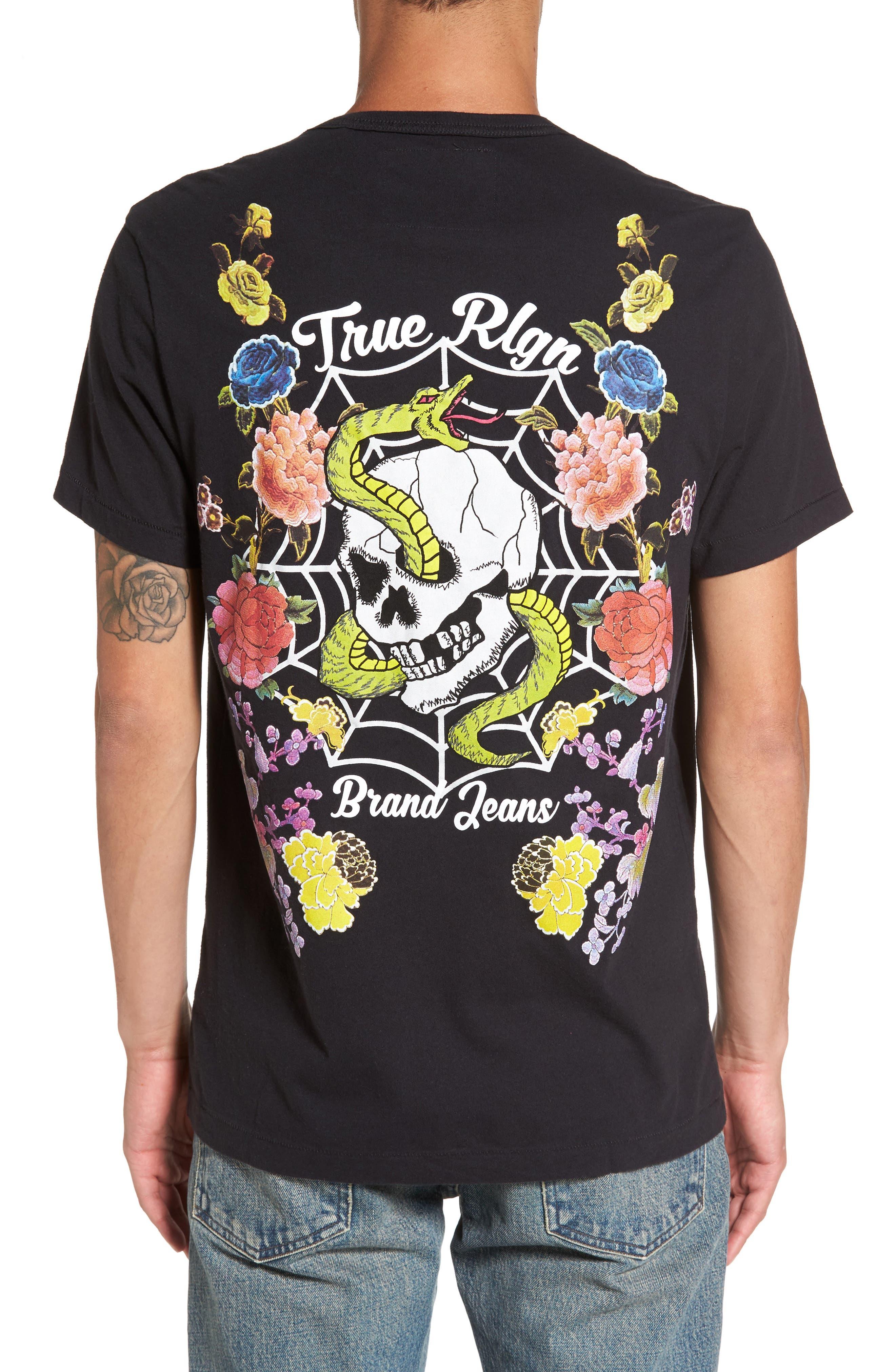 Snake Skull T-Shirt,                             Alternate thumbnail 2, color,