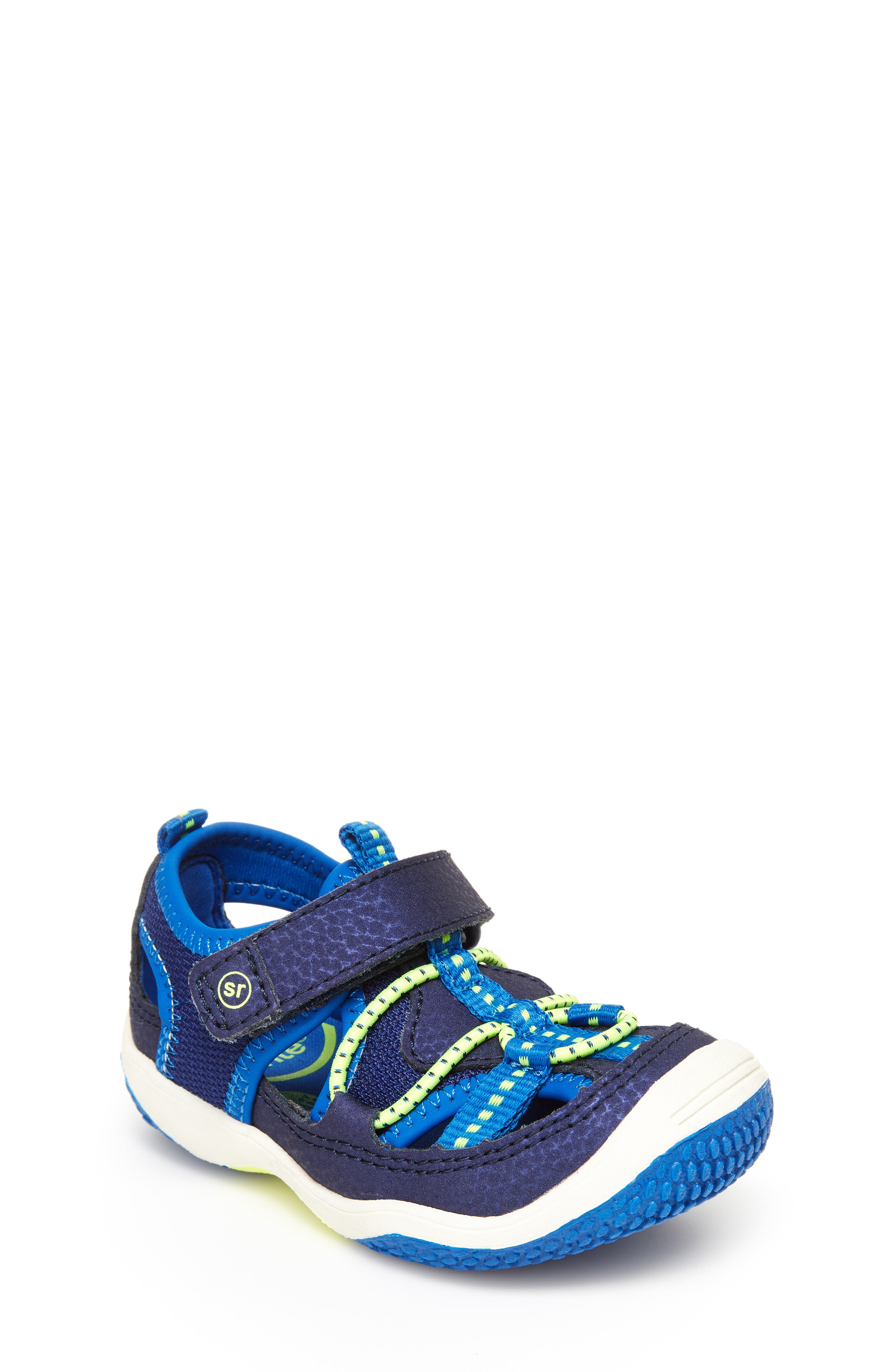 STRIDE RITE,                             Marina Water Sandal,                             Main thumbnail 1, color,                             ELECTRIC BLUE LEATHER/ TEXTILE