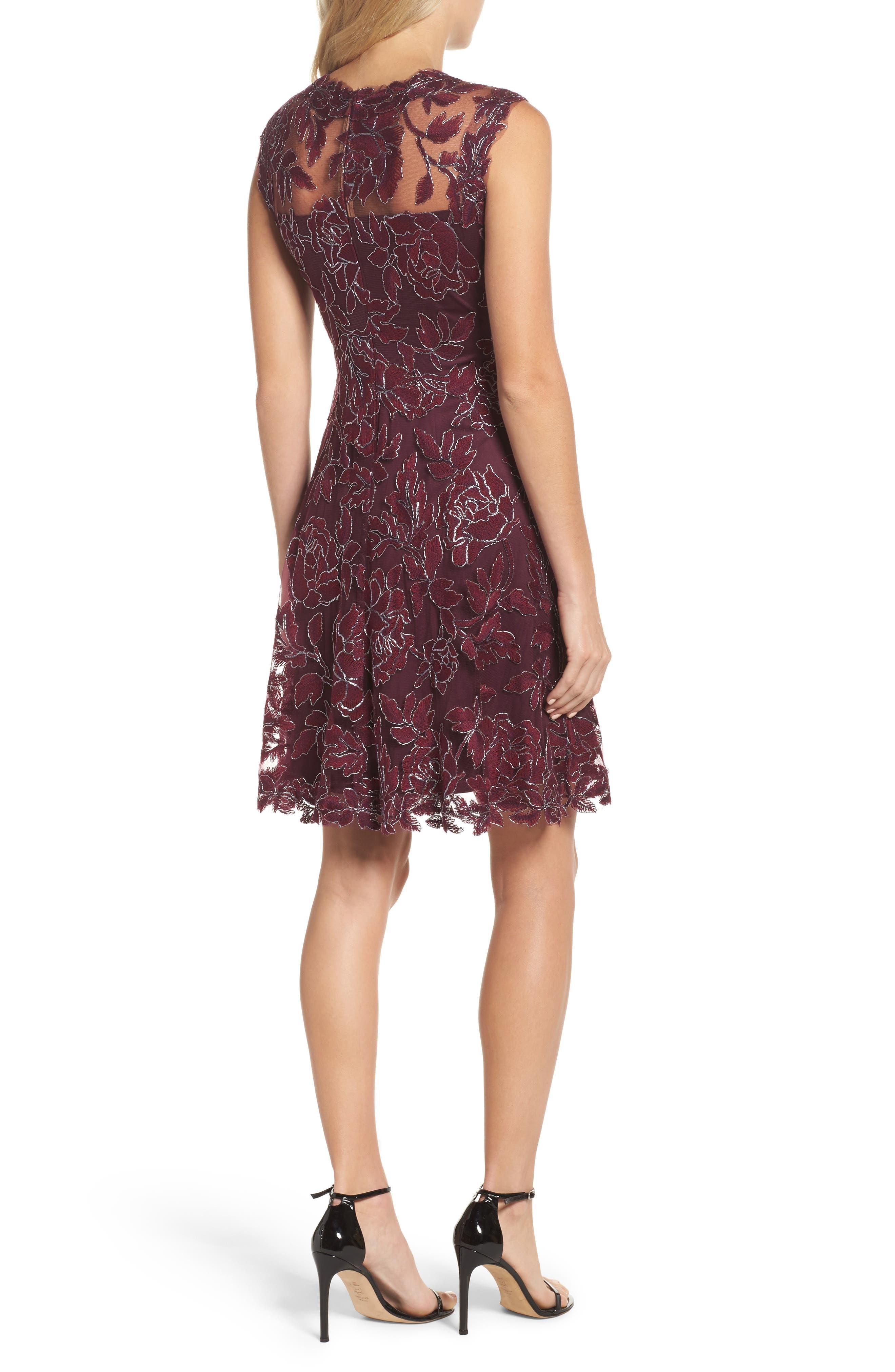 Noelle Floral Fit & Flare Dress,                             Alternate thumbnail 2, color,                             572