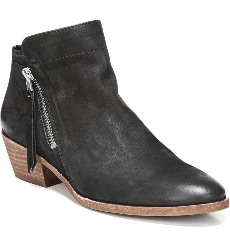 83b78ec5a8193 Sam Edelman Women S Packer Almond Toe Leather Low Heel Booties In Black