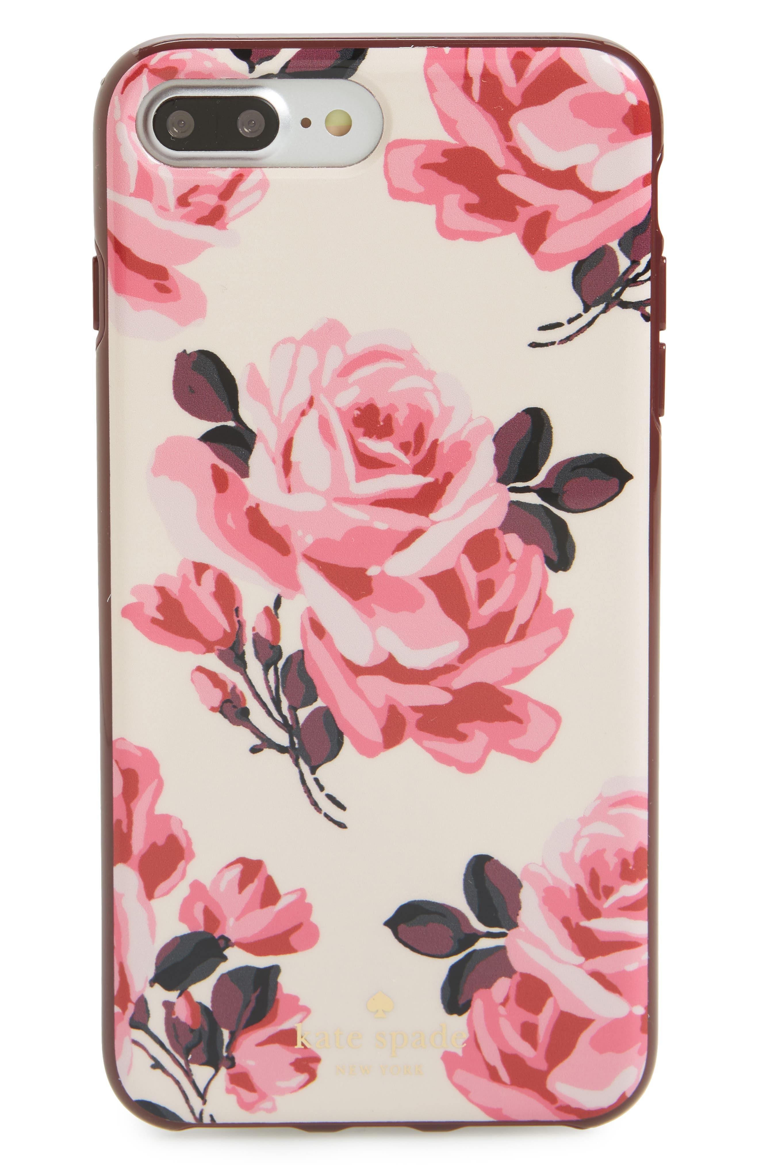 rosa iPhone 7 Plus case,                             Main thumbnail 1, color,                             650