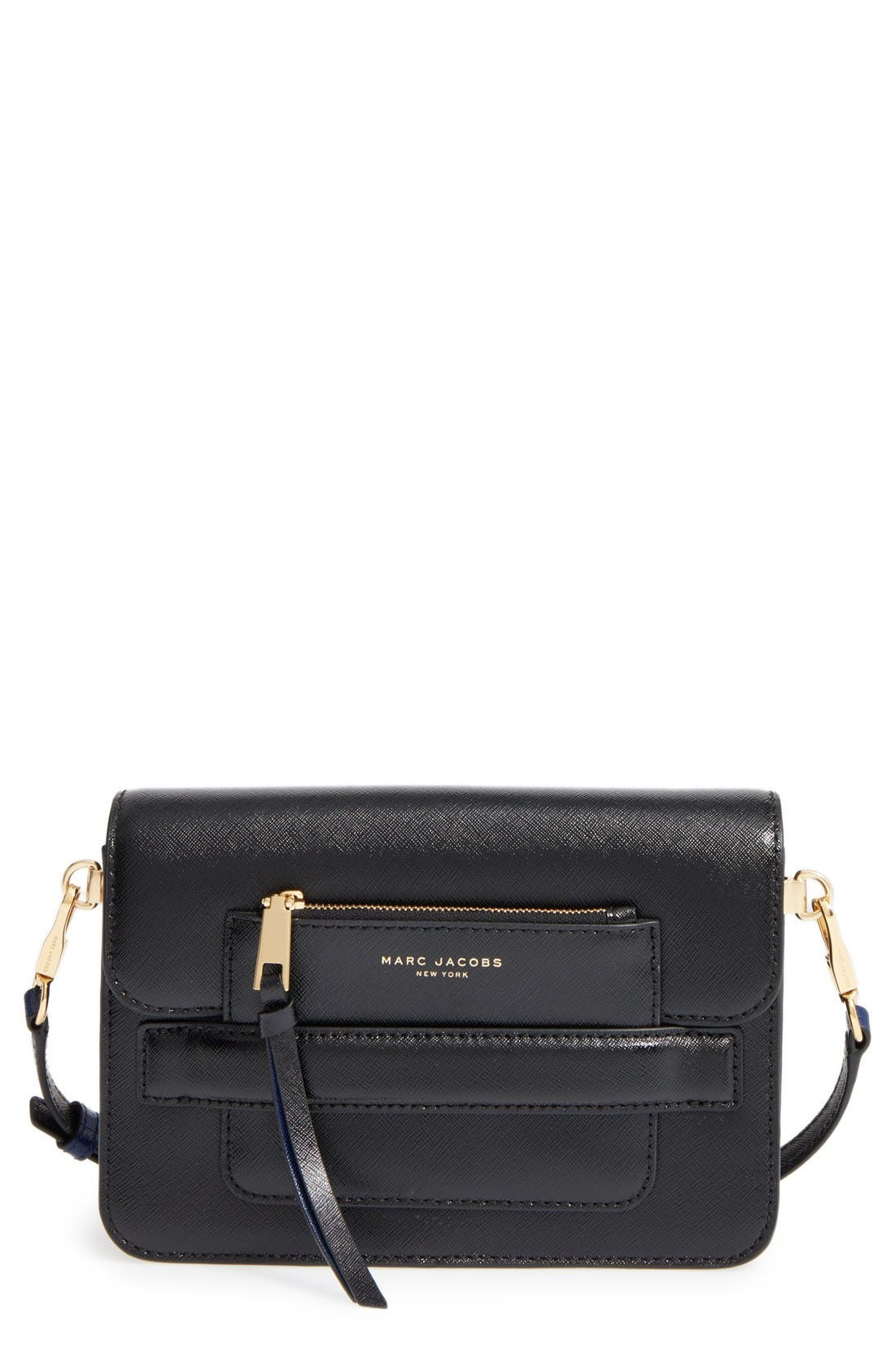 Madison Colorblock Leather Crossbody Bag, Main, color, 002