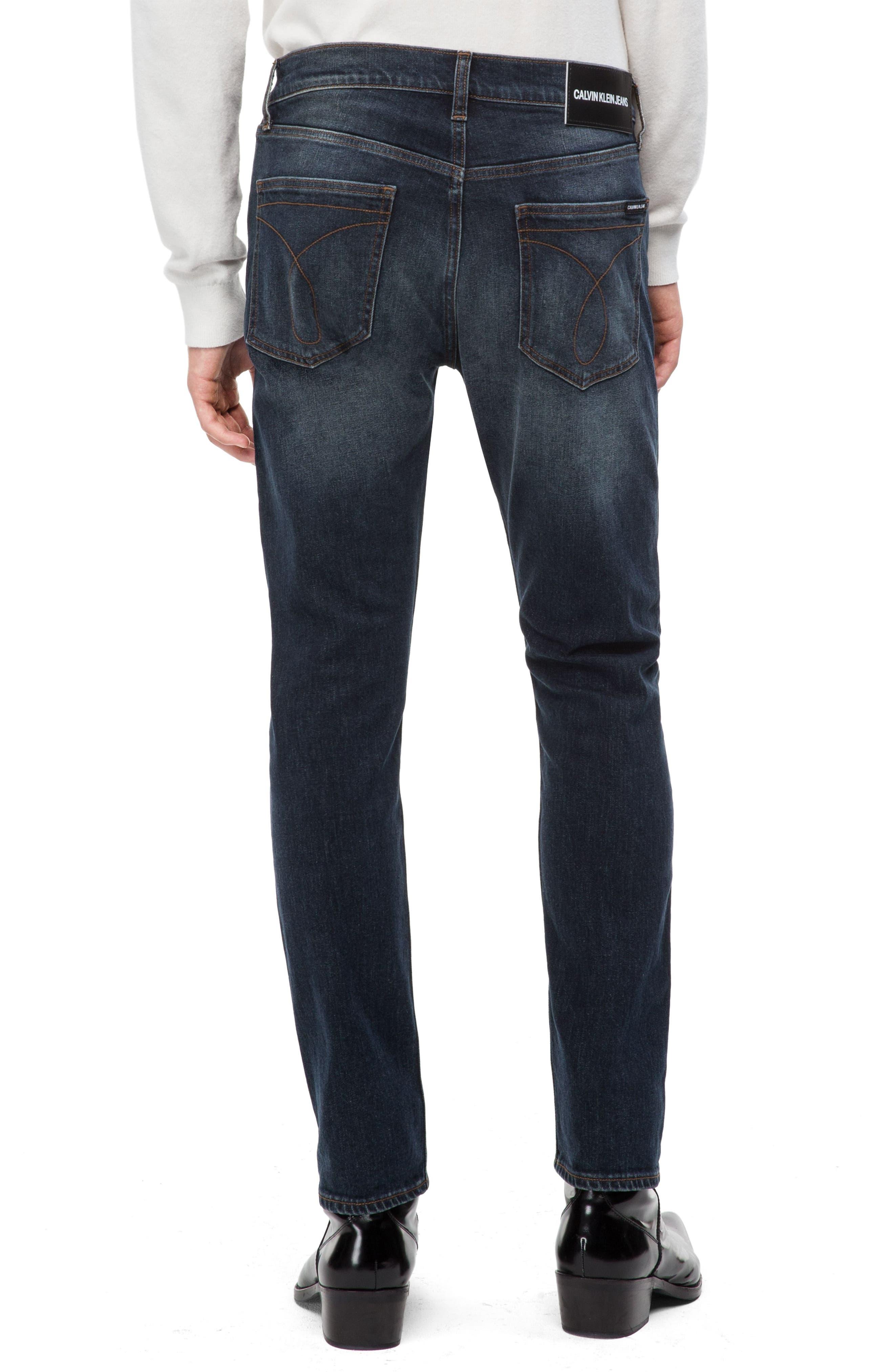 Skinny Slim Fit Jeans,                             Alternate thumbnail 2, color,                             PEDRO BLUE