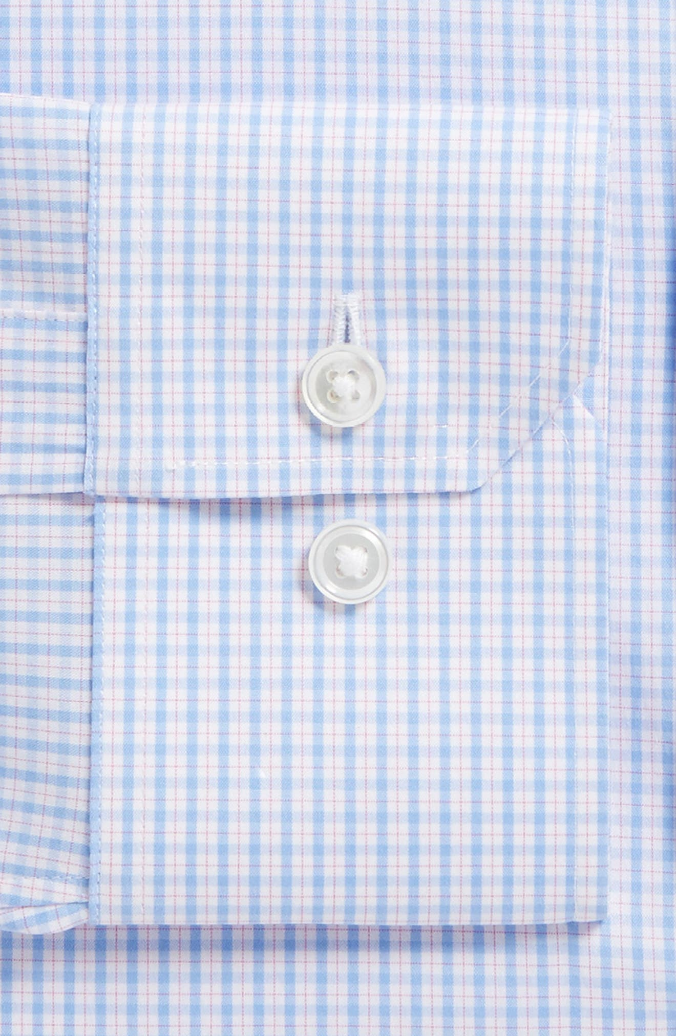 Soundview Slim Fit Stretch Check Dress Shirt,                             Alternate thumbnail 6, color,                             400
