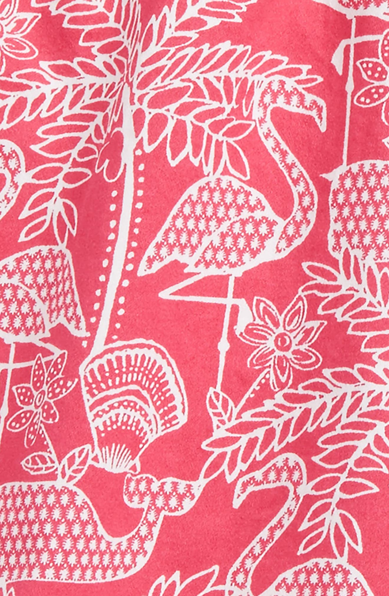 Flamingo Print Shorts,                             Alternate thumbnail 2, color,                             658