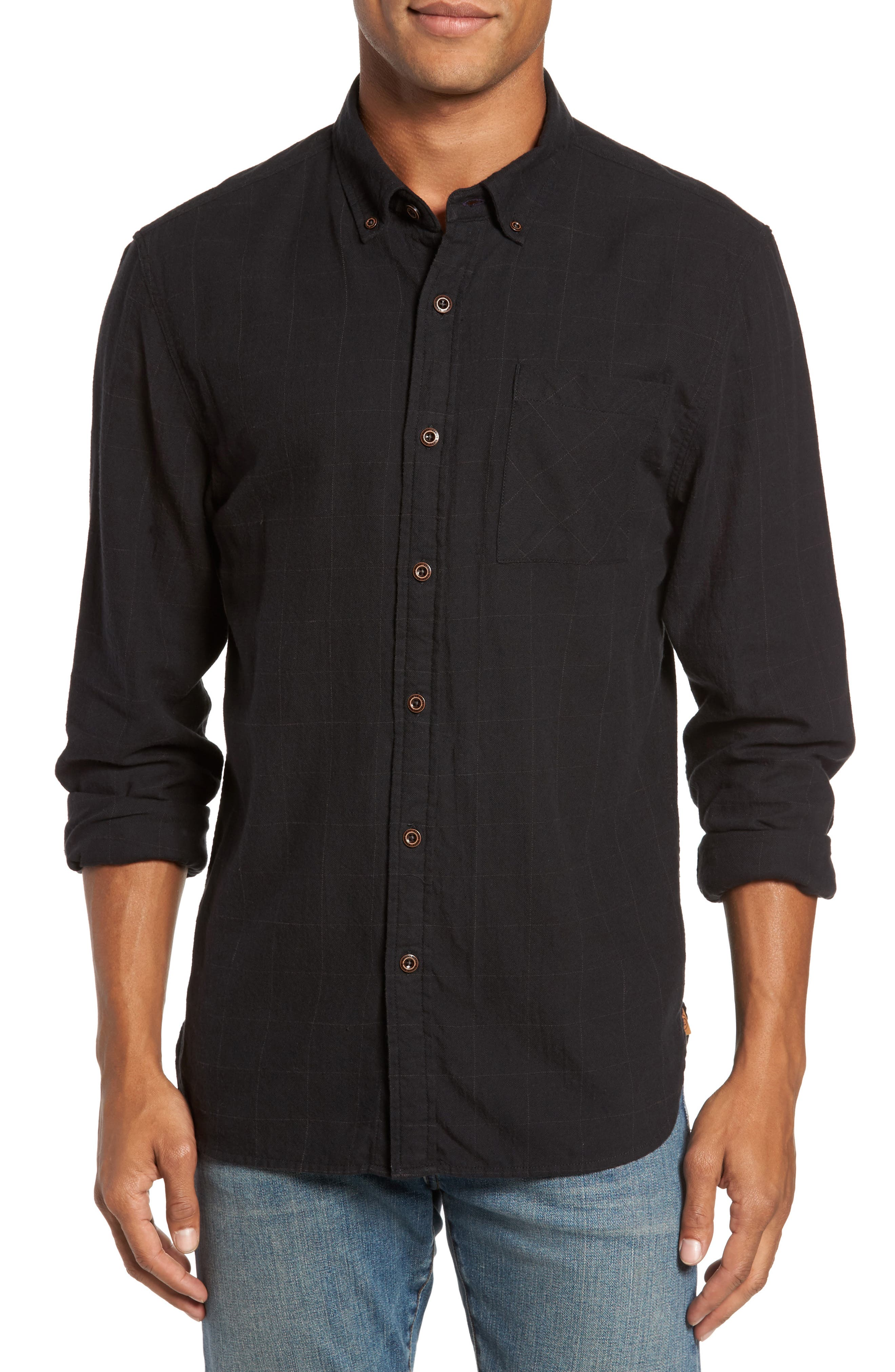 Tuman Windowpane Sport Shirt,                         Main,                         color, 001