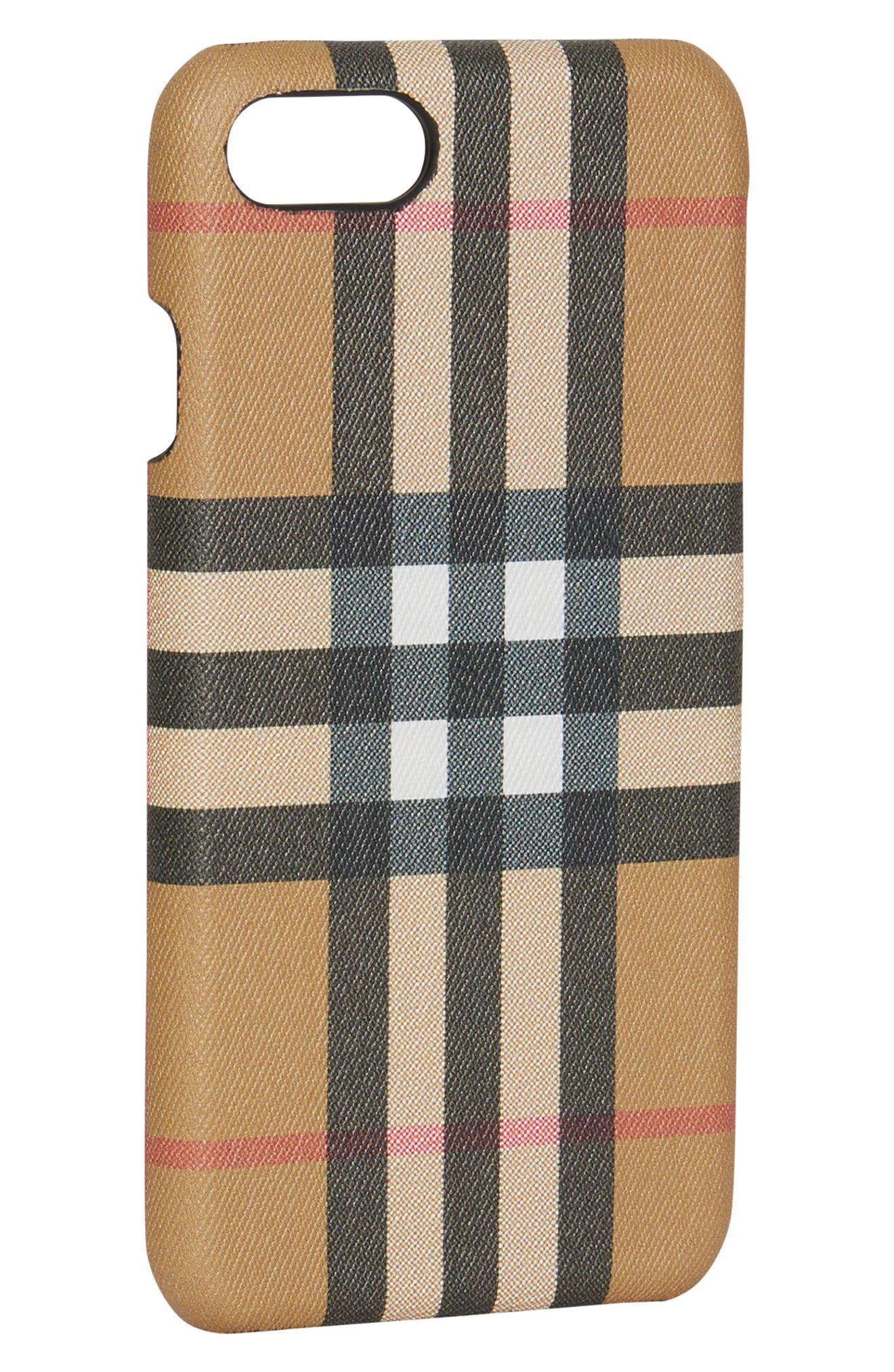 Vintage Check iPhone 8 Case,                             Alternate thumbnail 4, color,                             001