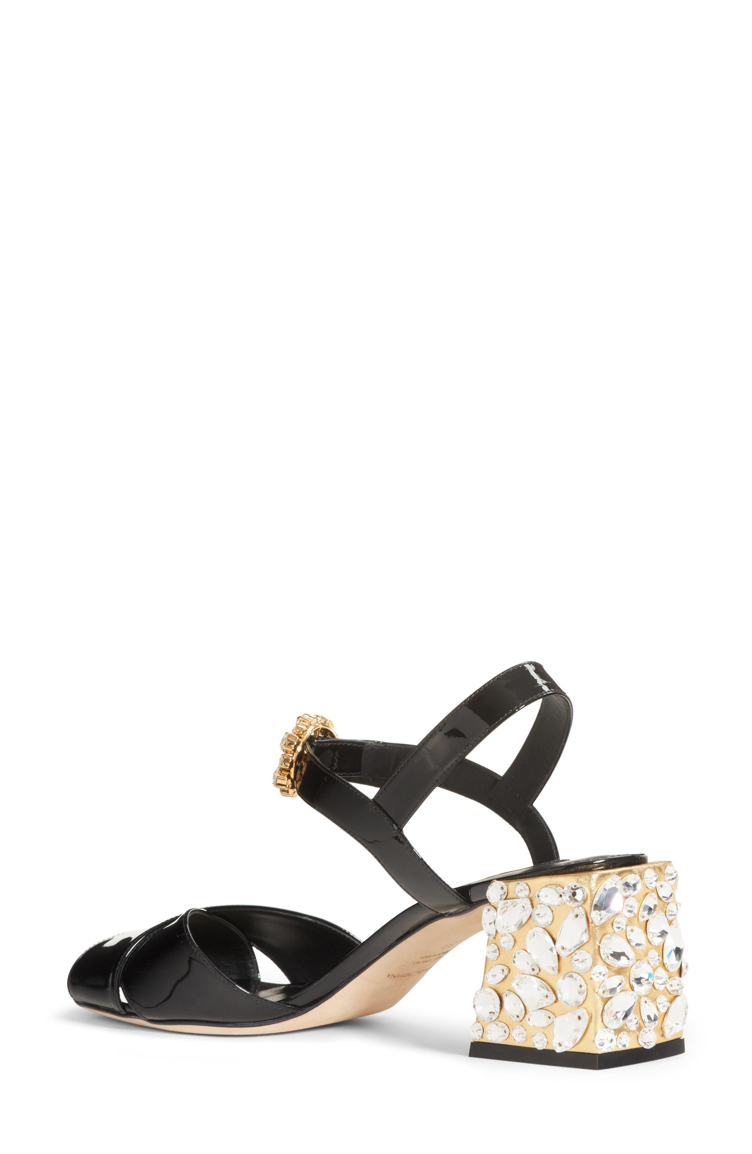 Crystal Embellished Sandal,                             Alternate thumbnail 2, color,                             002
