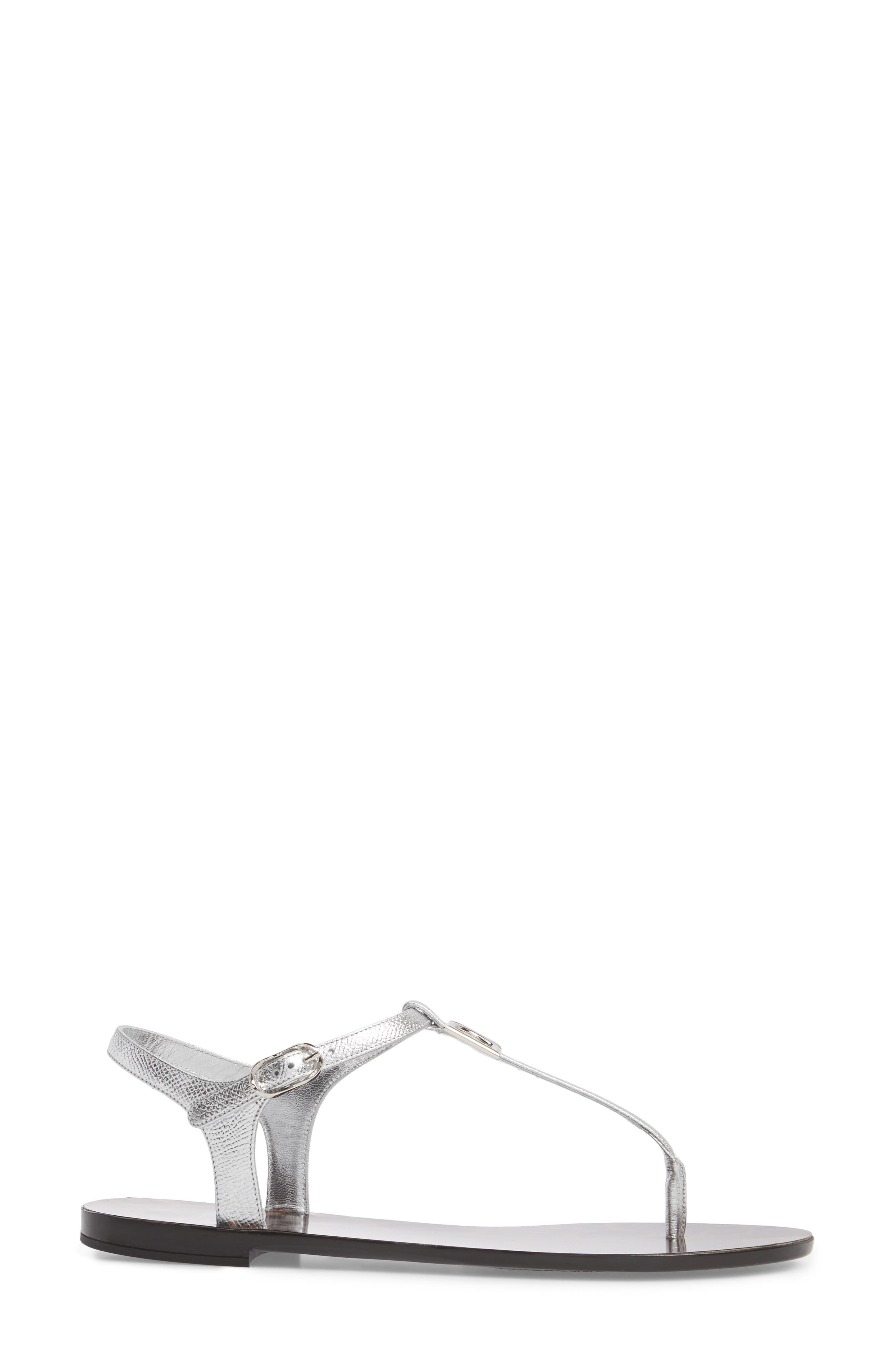 Dauphine Logo Sandal,                             Alternate thumbnail 3, color,                             040