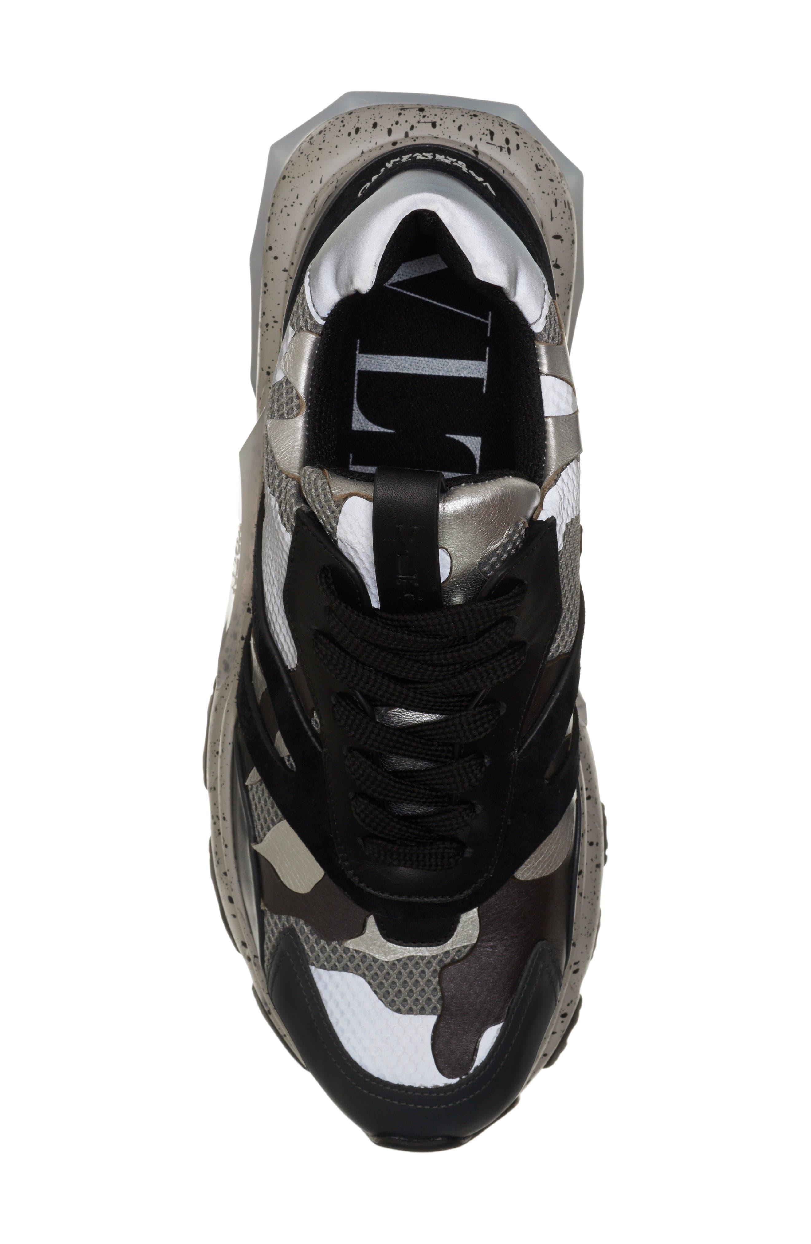 Bounce Sneaker,                             Alternate thumbnail 5, color,                             DARK SILVER/ BLACK