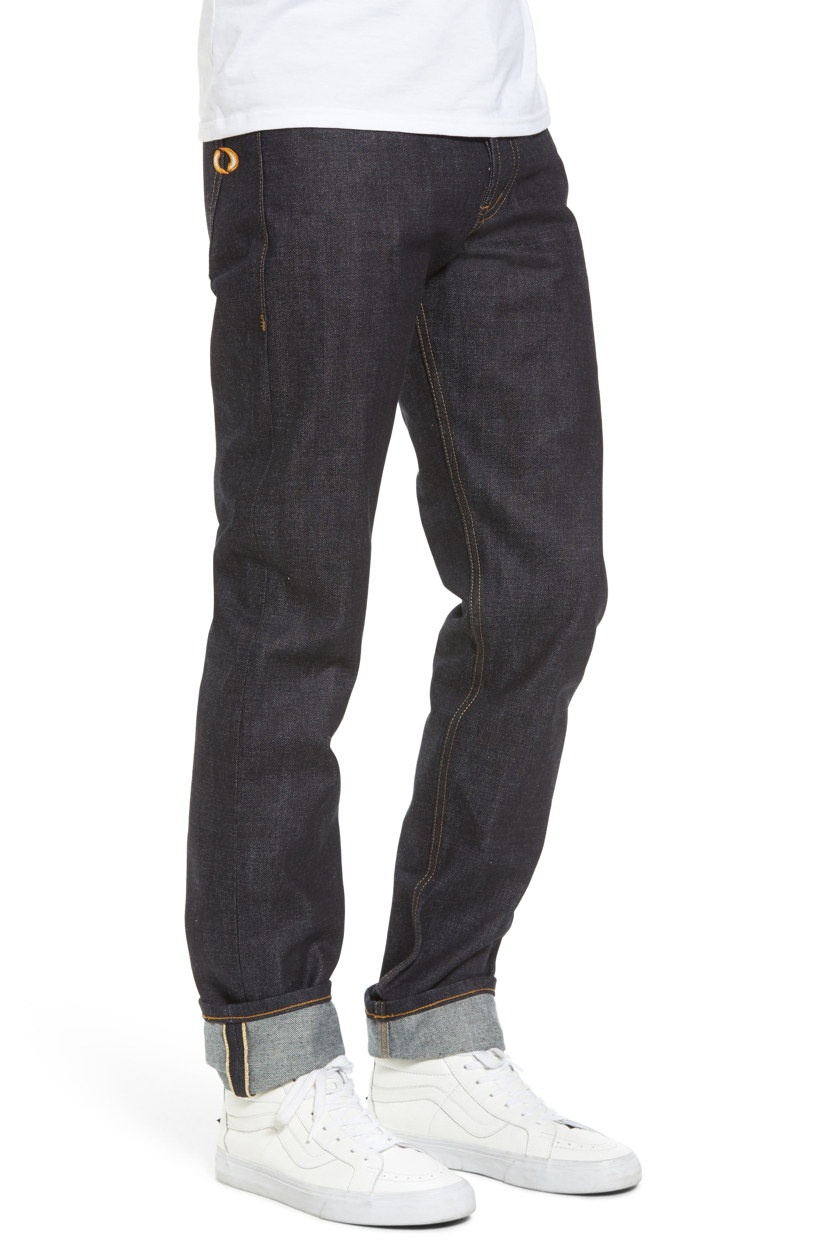 Weird Guy Slim Fit Street Fighter Sonic Boom Selvedge Jeans,                             Alternate thumbnail 3, color,                             400