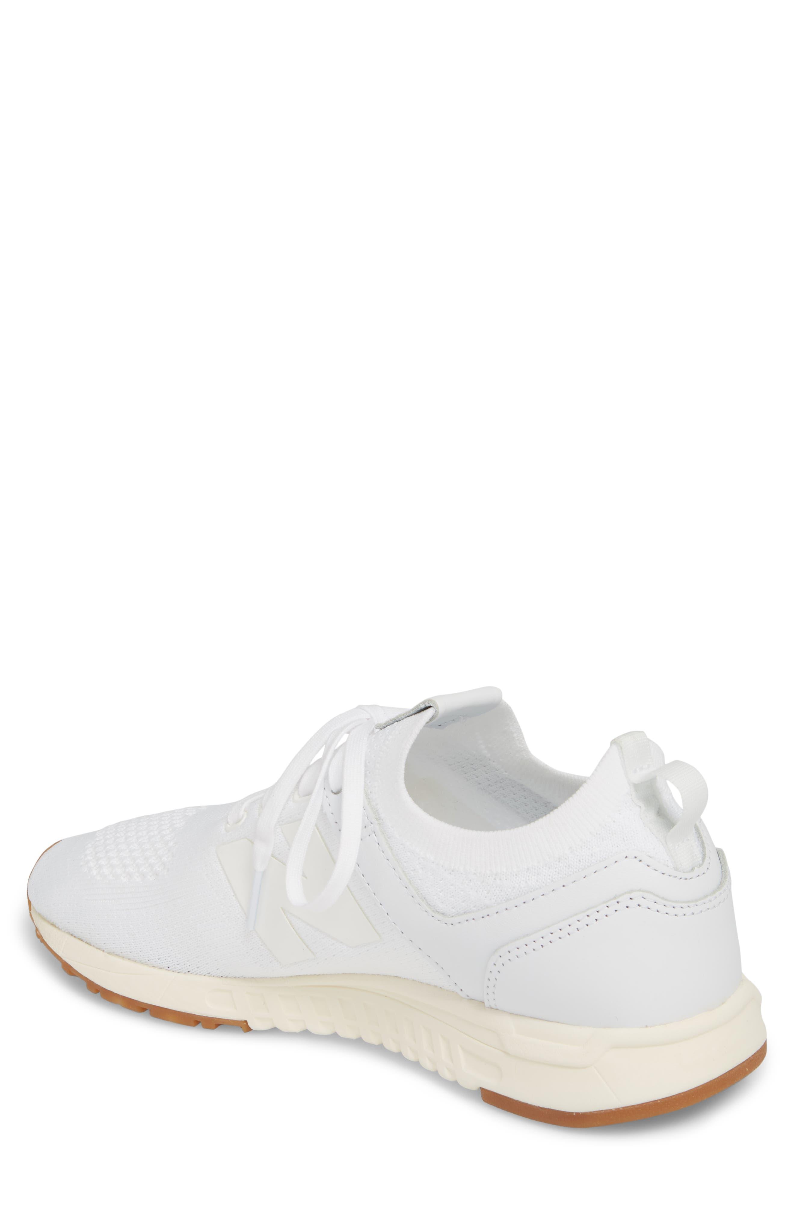 247 Decon Knit Sneaker,                             Alternate thumbnail 2, color,                             WHITE