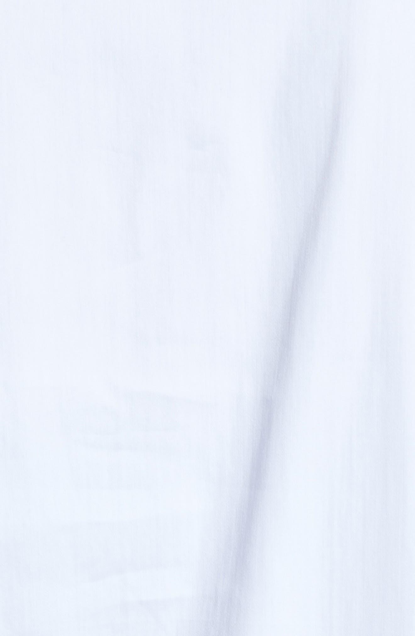 Grommet Sleeve Shirt,                             Alternate thumbnail 5, color,                             100