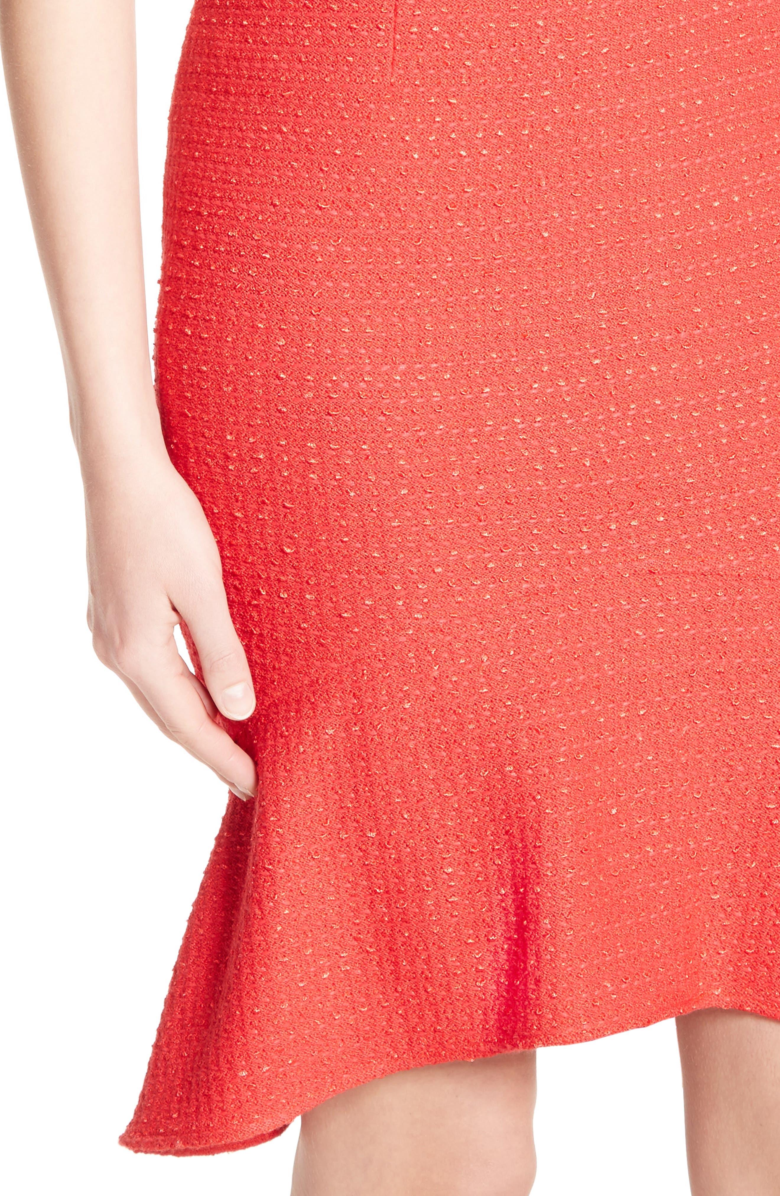 Ribbon Knit Flounce Dress,                             Alternate thumbnail 4, color,                             610