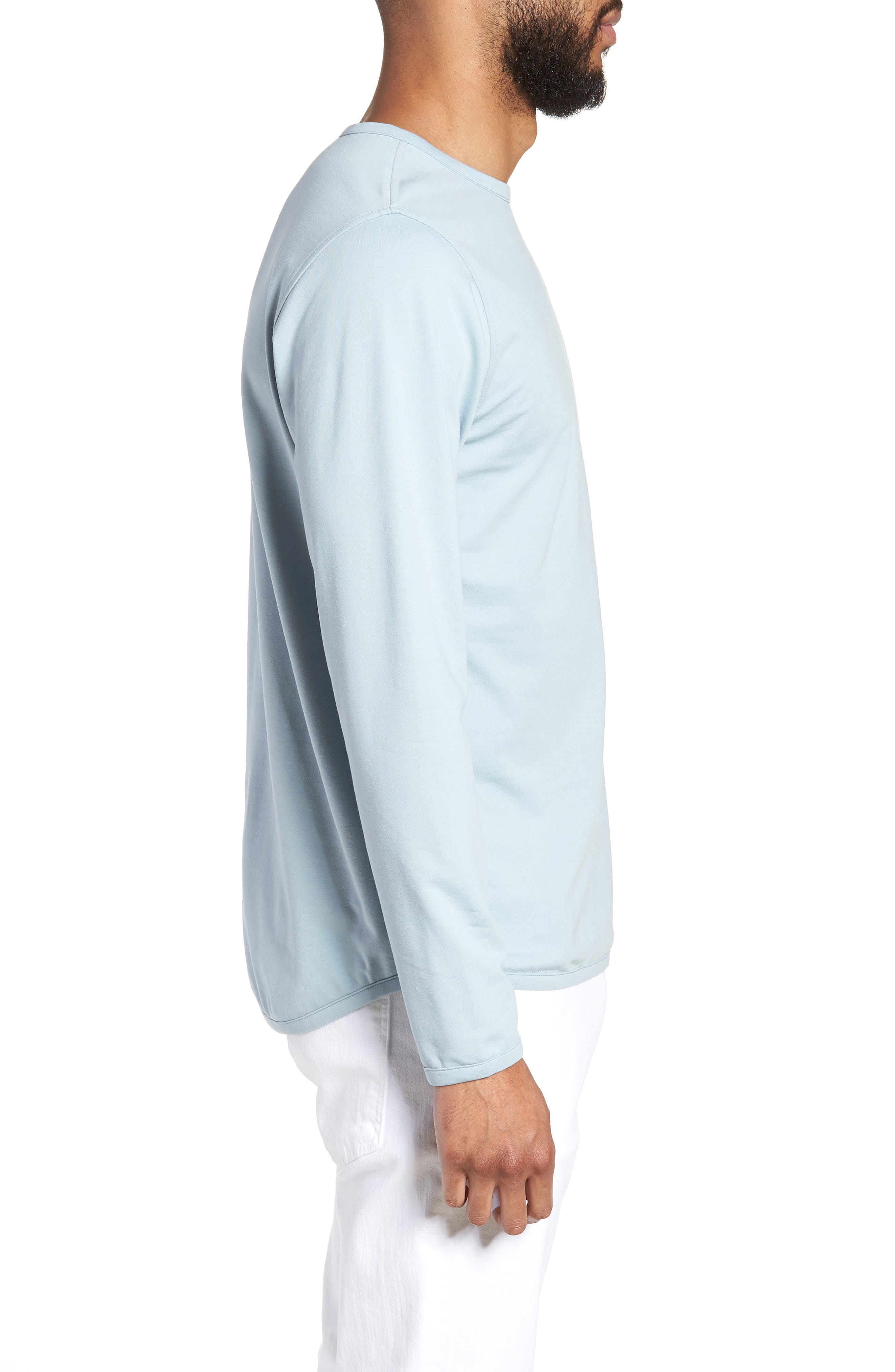 Trim Fit Long Sleeve T-Shirt,                             Alternate thumbnail 8, color,