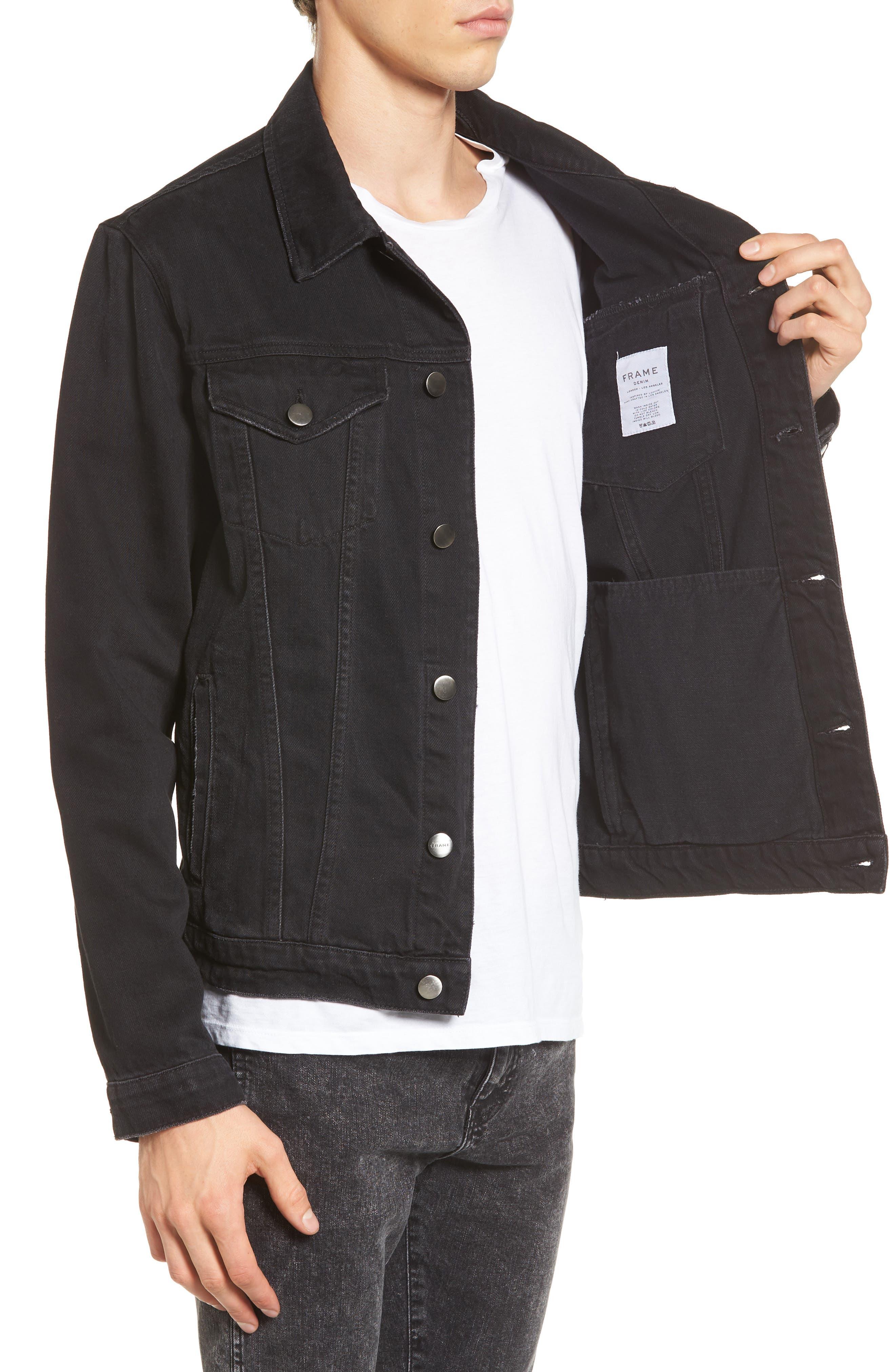 L'Homme Denim Jacket,                             Alternate thumbnail 3, color,                             001