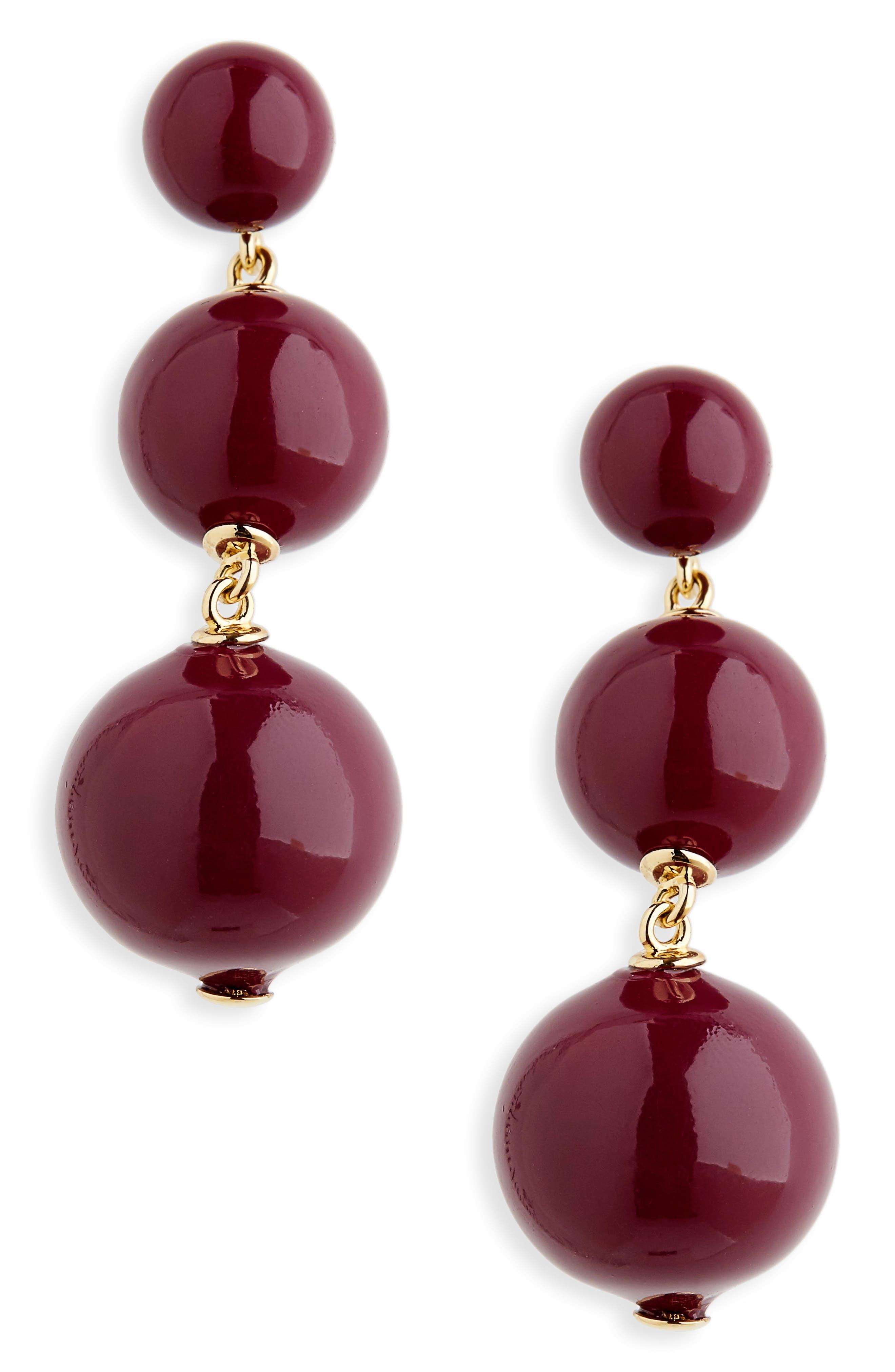 golden girl bauble drop earrings,                             Main thumbnail 6, color,