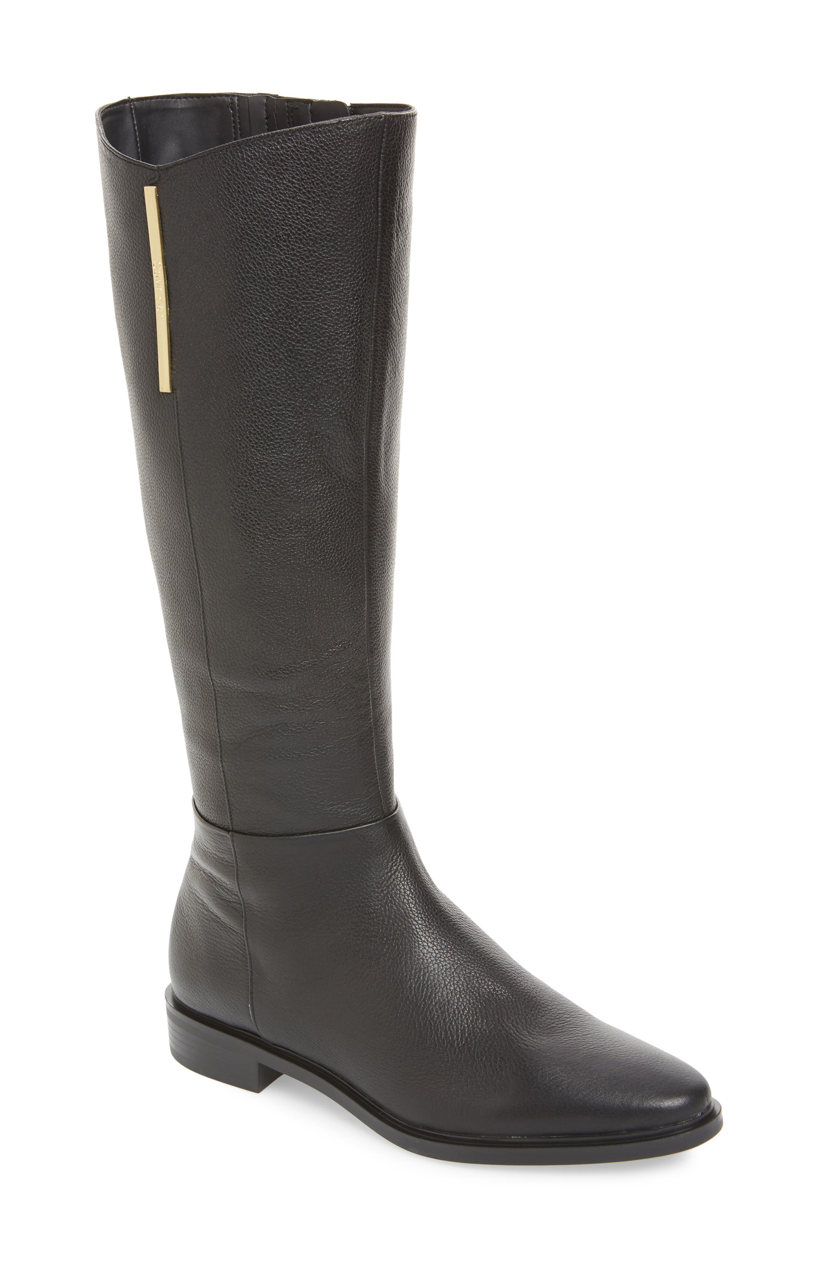 Calvin Klein Francine Knee High Riding Boot- Black