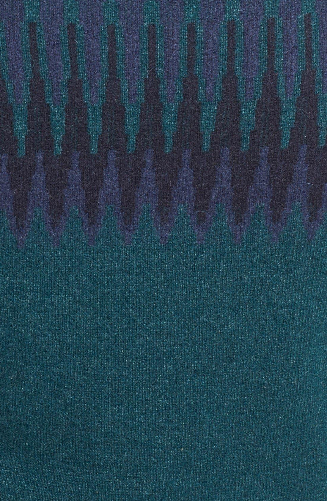 Fair Isle Crewneck Sweater,                             Alternate thumbnail 4, color,                             400