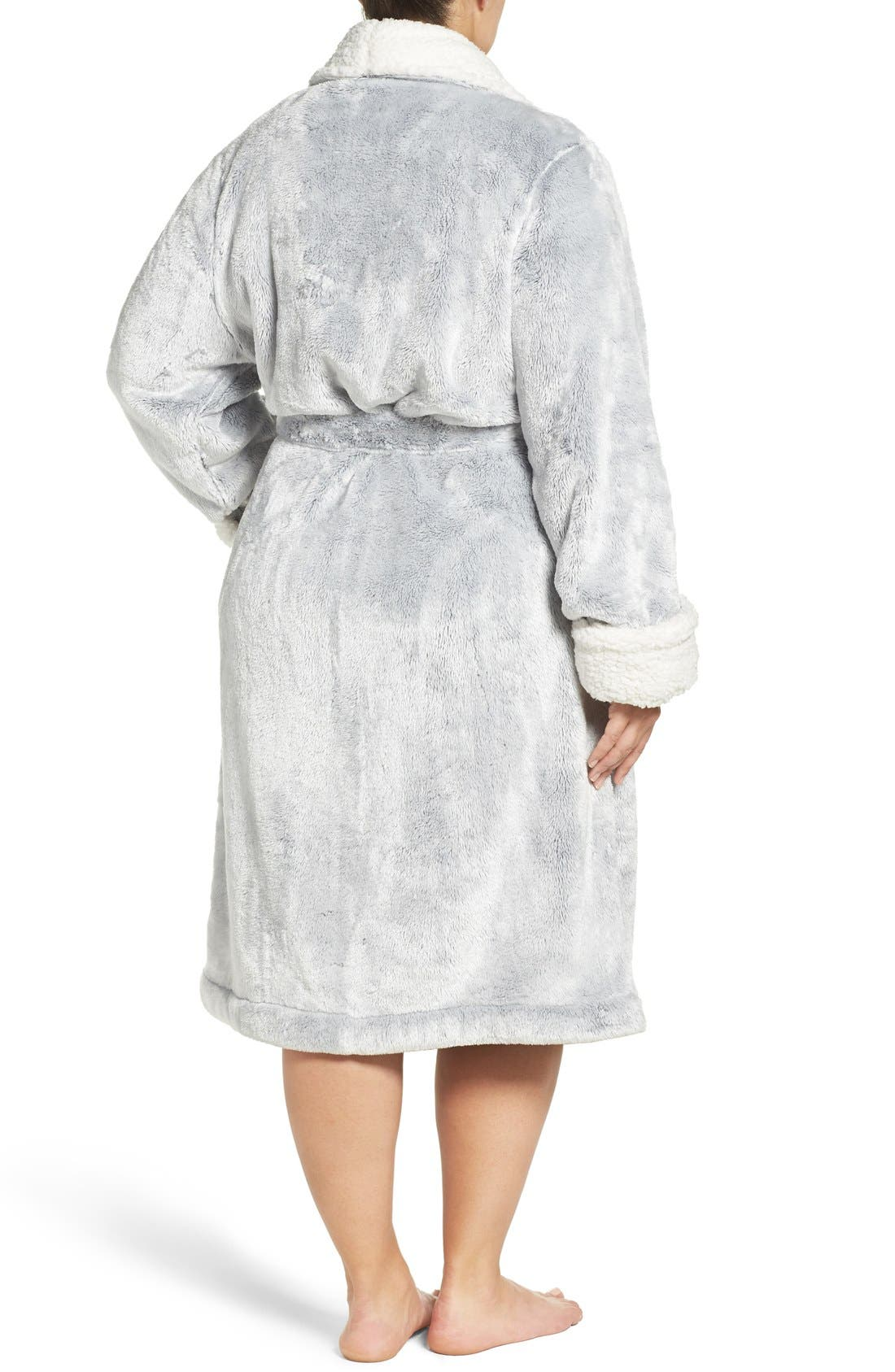 Frosted Plush Robe,                             Alternate thumbnail 16, color,