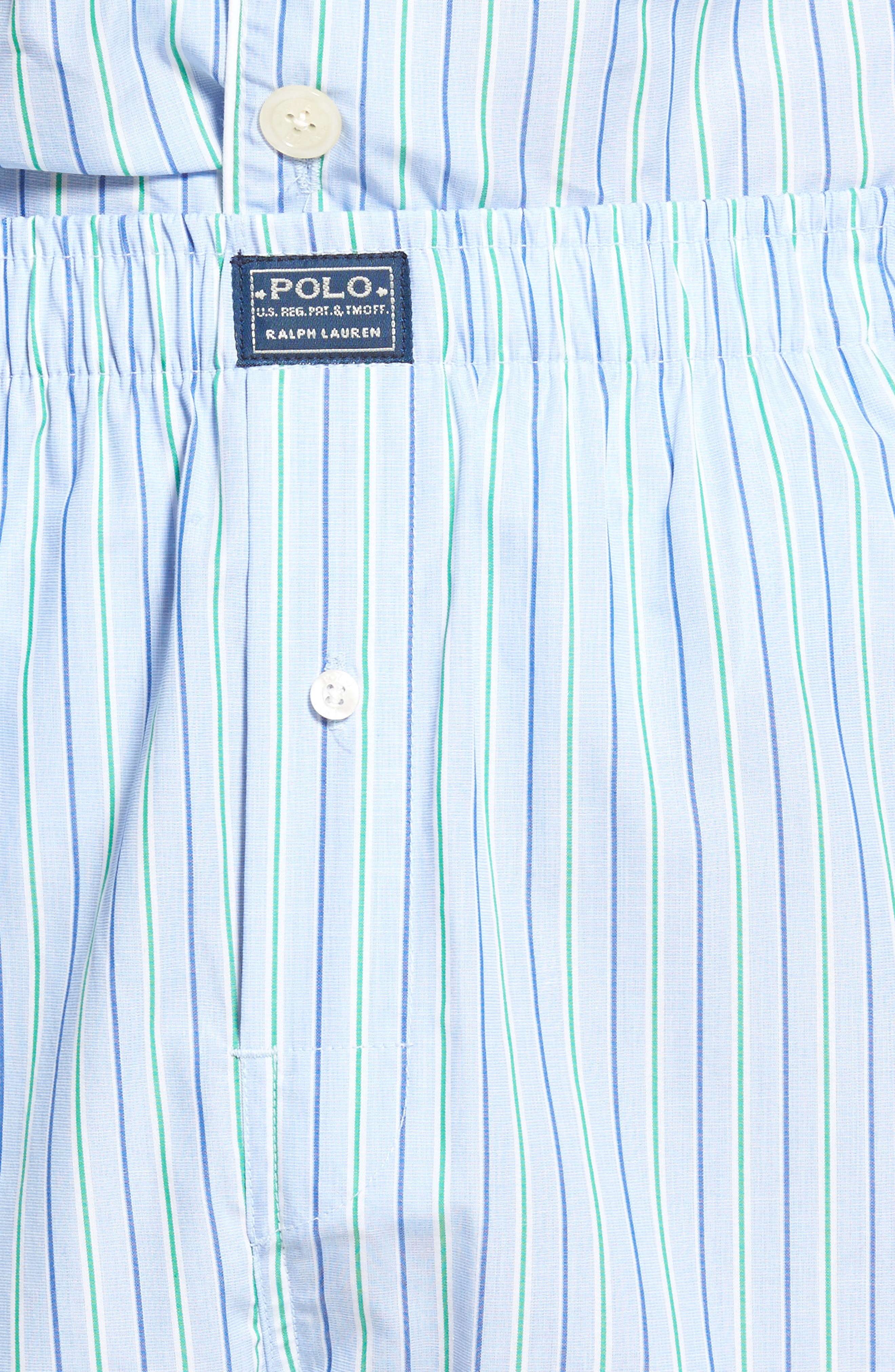 Cotton Pajama Top,                             Alternate thumbnail 4, color,                             BARI STRIPE