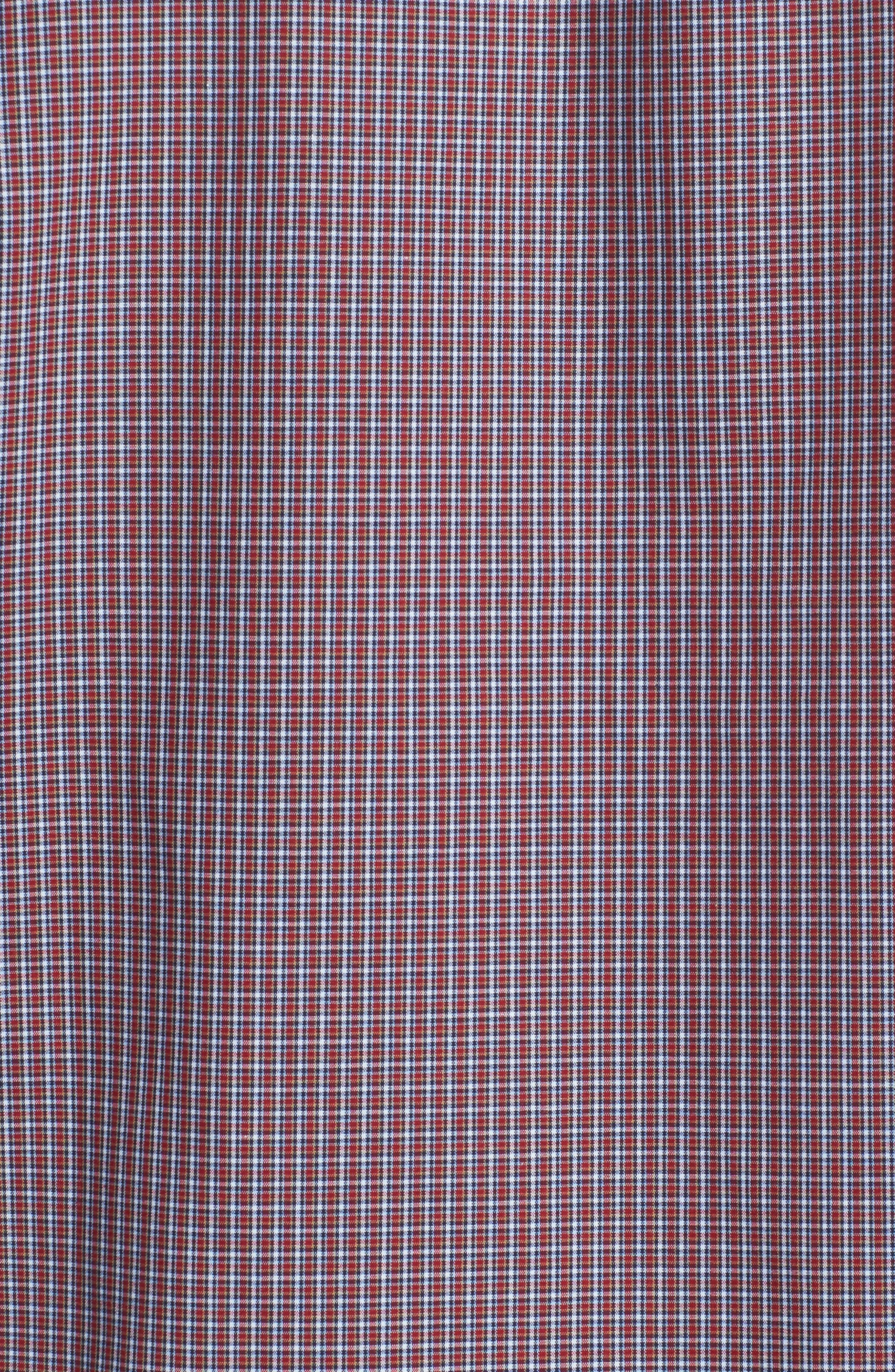 Trim Fit Non-Iron Mini Check Sport Shirt,                             Alternate thumbnail 5, color,                             610