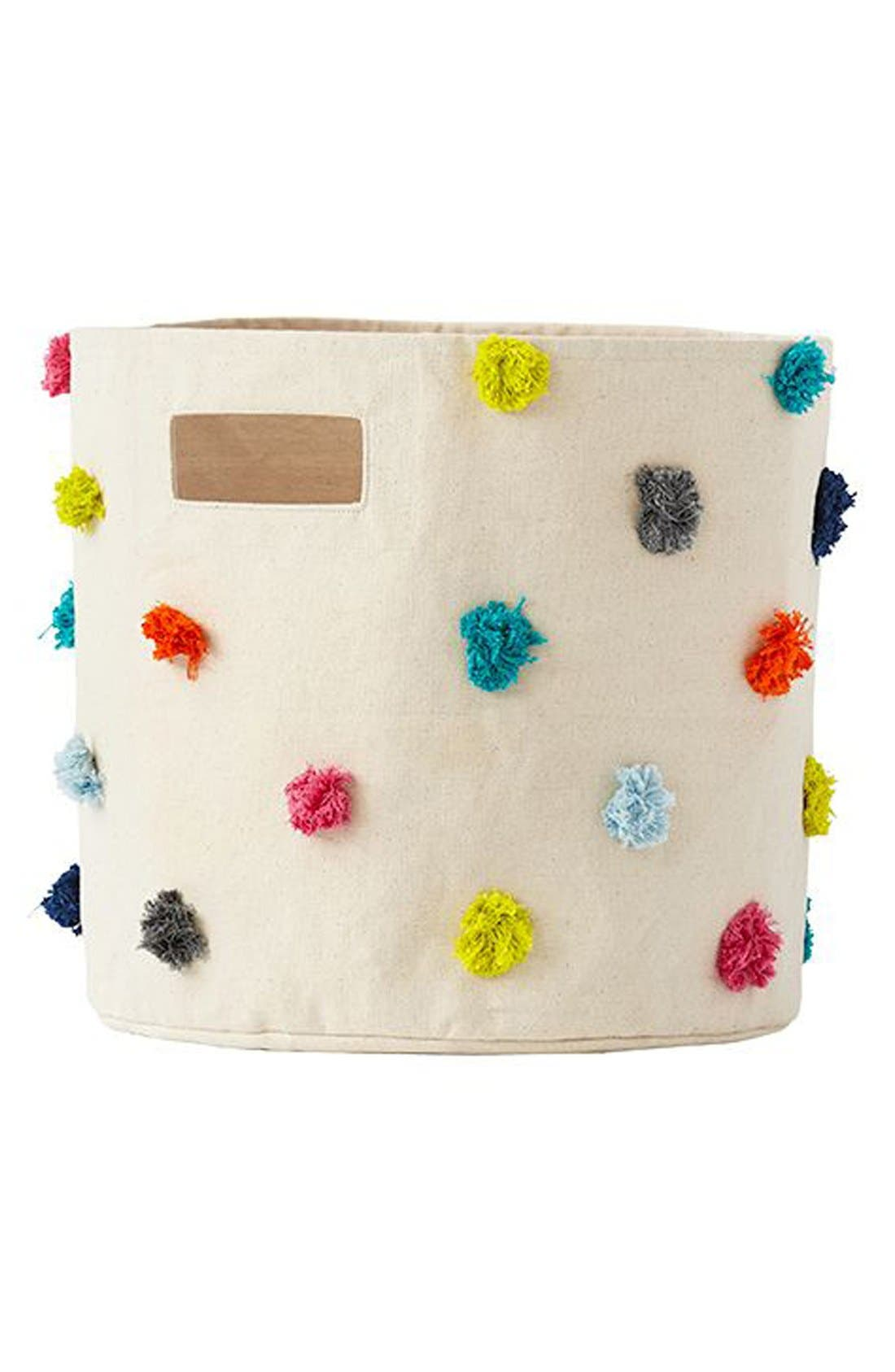 Canvas Bin,                             Main thumbnail 1, color,                             POM POM
