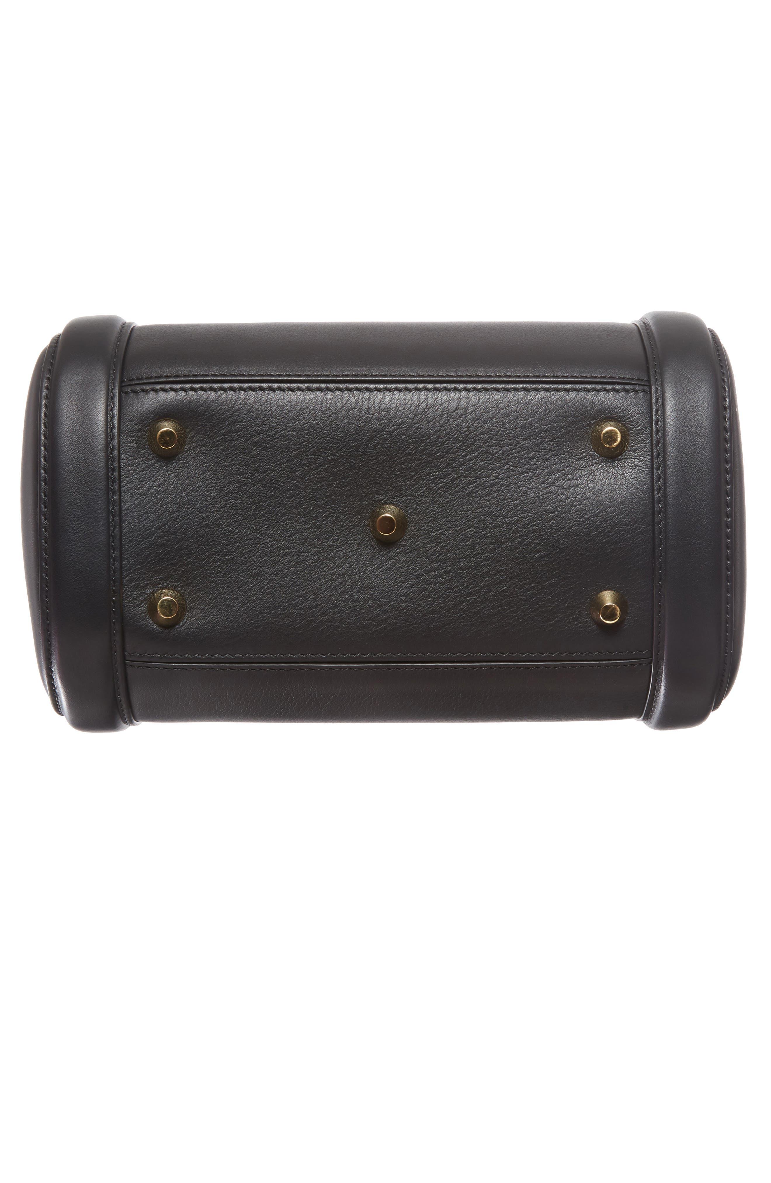 Medium Heroine Leather Satchel,                             Alternate thumbnail 6, color,                             001