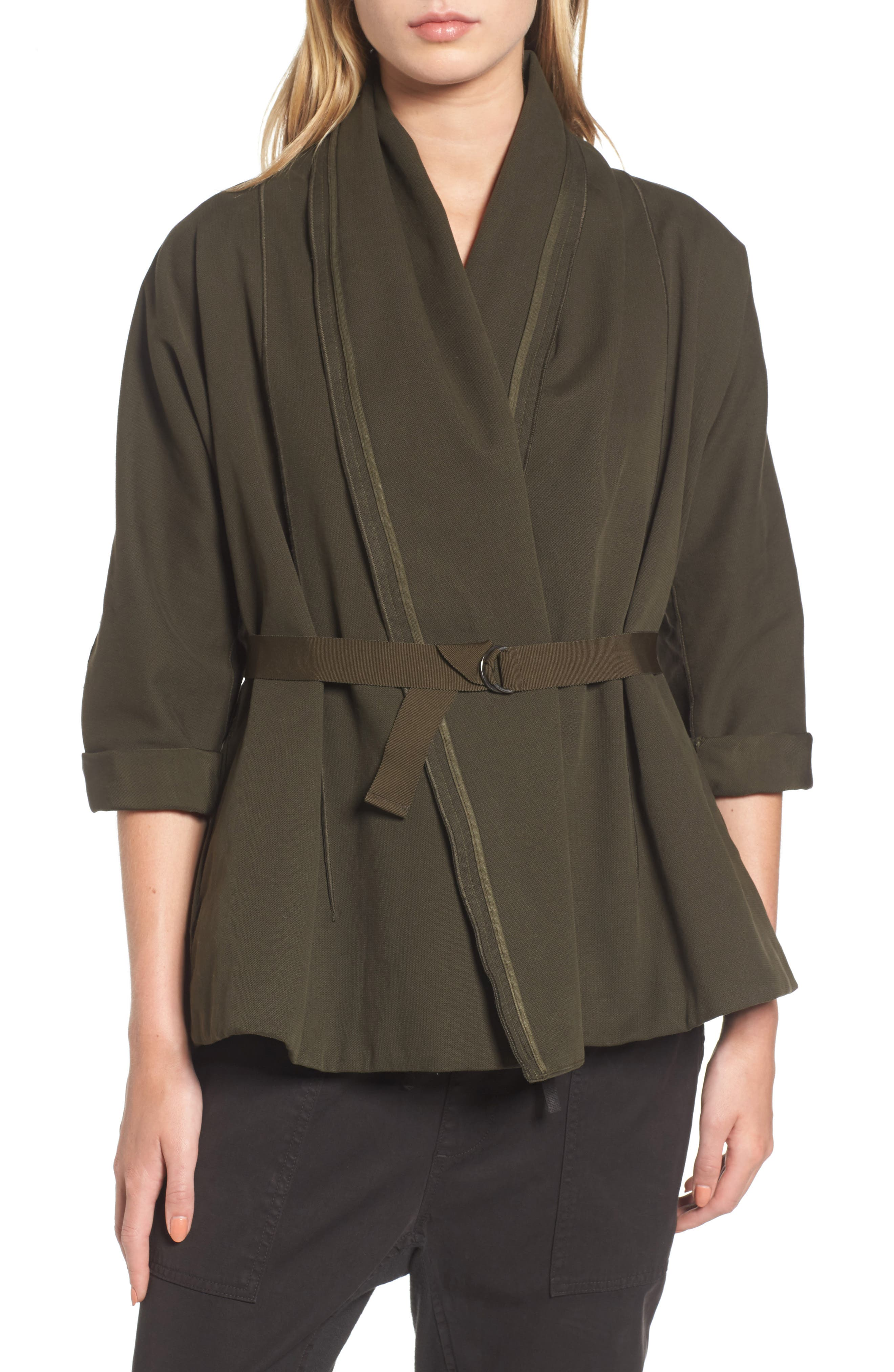 Blanket Kimono Jacket,                             Alternate thumbnail 4, color,