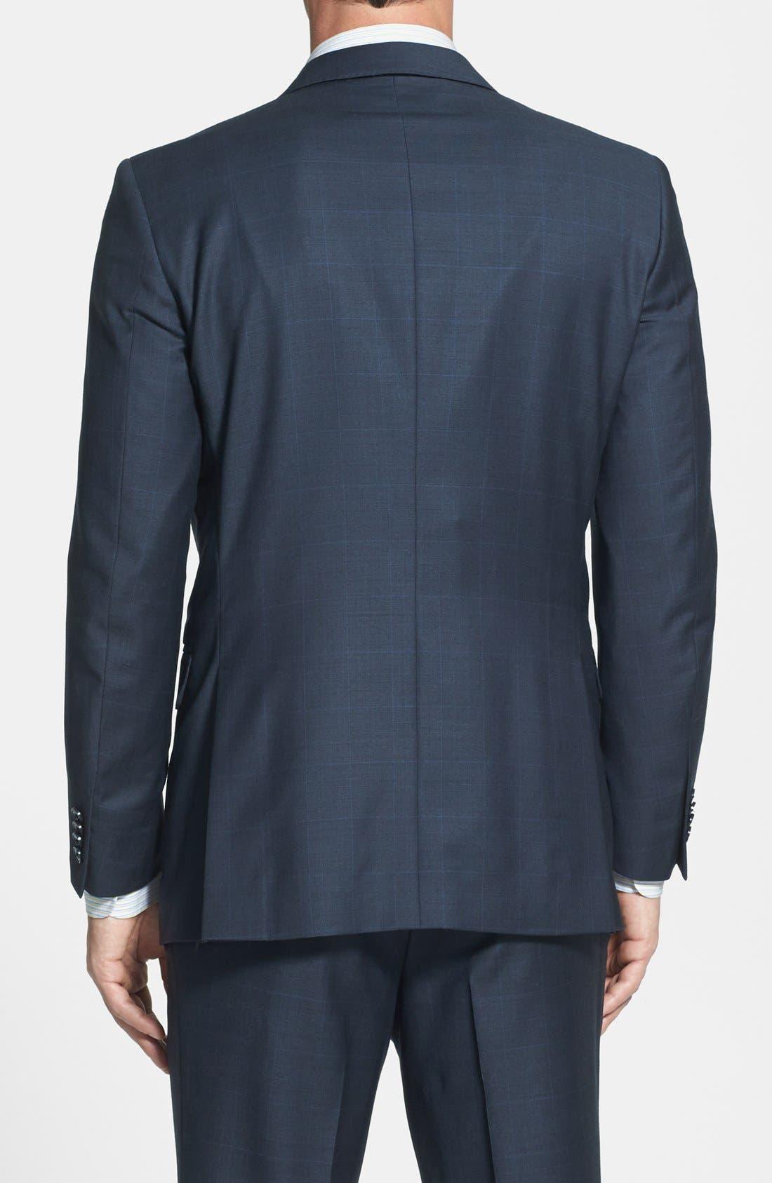 PETER MILLAR,                             Classic Fit Navy Windowpane Suit,                             Alternate thumbnail 5, color,                             410