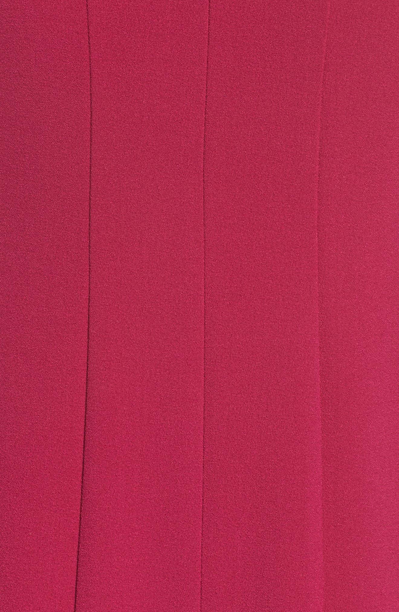 Sleeveless Pleat Panel Fit & Flare Dress,                             Alternate thumbnail 6, color,                             FUCHSIA
