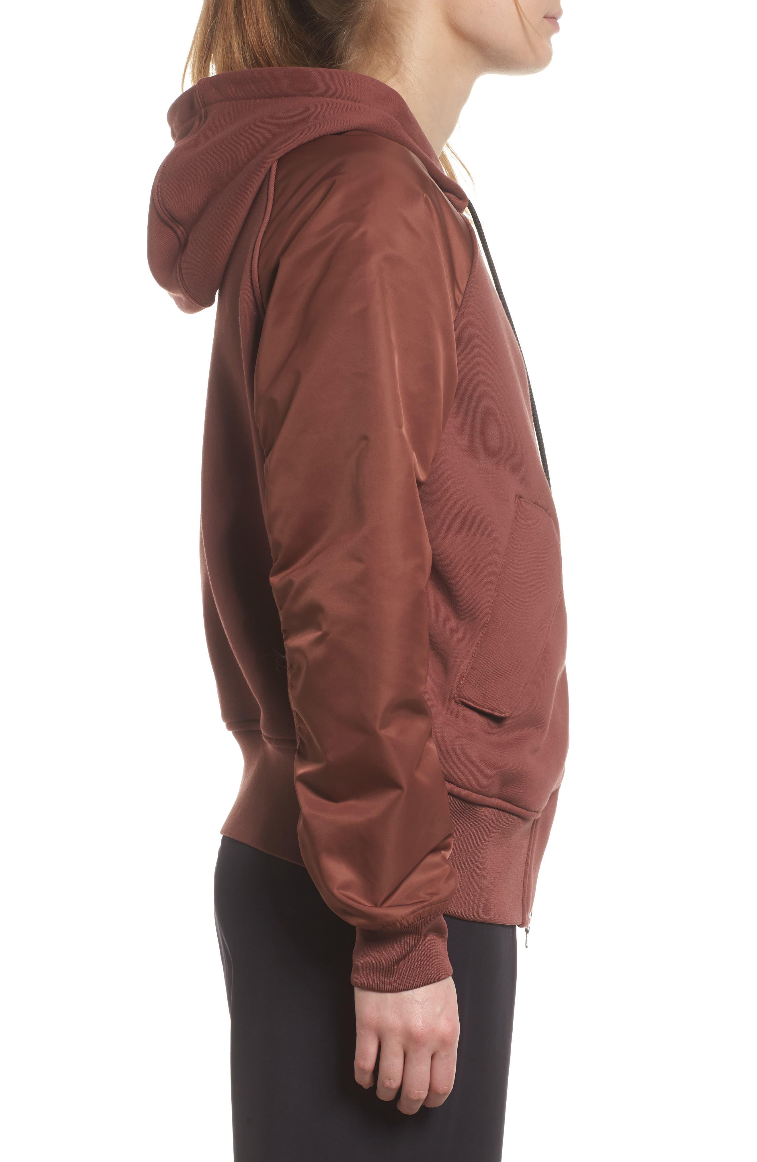 NikeLab Women's Mixed Media Bomber Jacket,                             Alternate thumbnail 6, color,